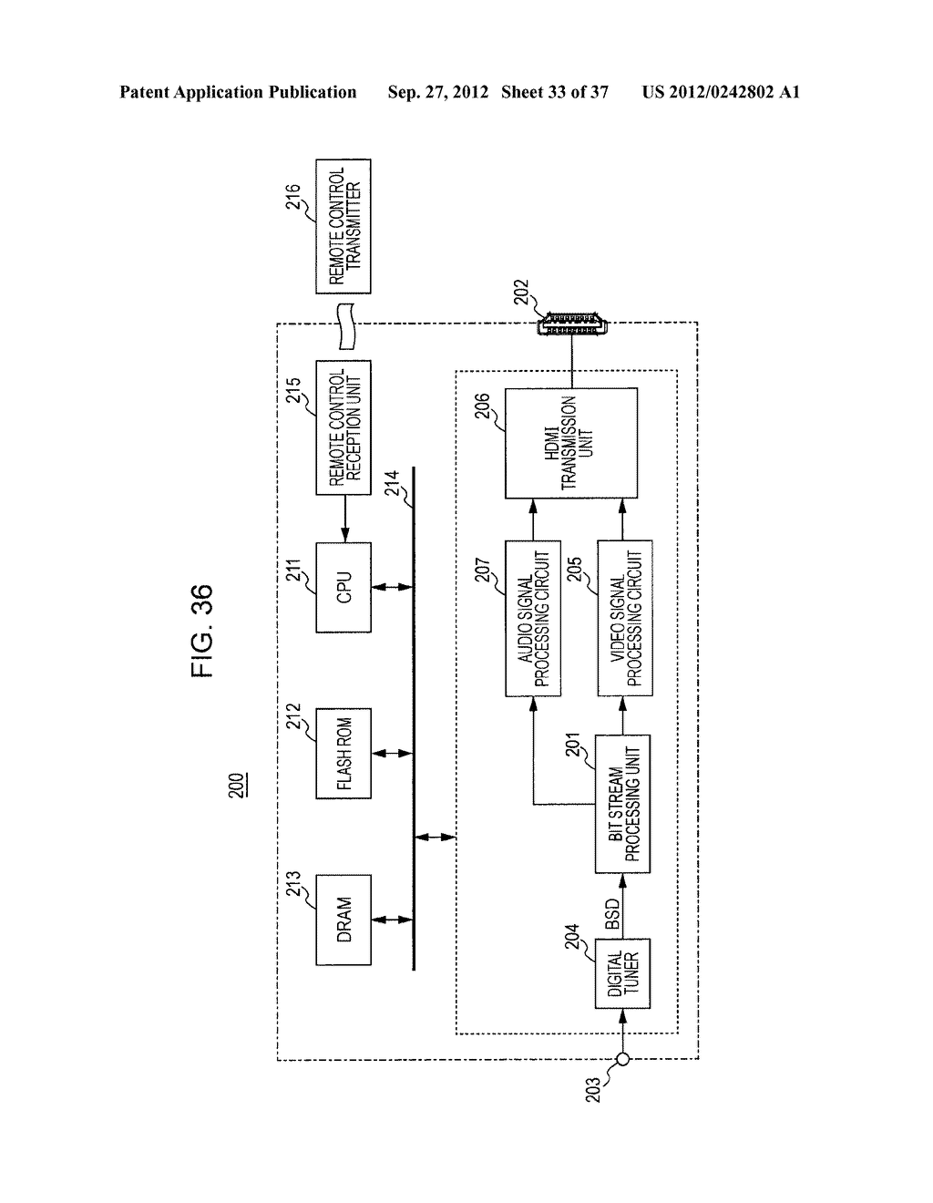 STEREOSCOPIC IMAGE DATA TRANSMISSION DEVICE, STEREOSCOPIC IMAGE DATA     TRANSMISSION METHOD, STEREOSCOPIC IMAGE DATA RECEPTION DEVICE, AND     STEREOSCOPIC IMAGE DATA RECEPTION METHOD - diagram, schematic, and image 34