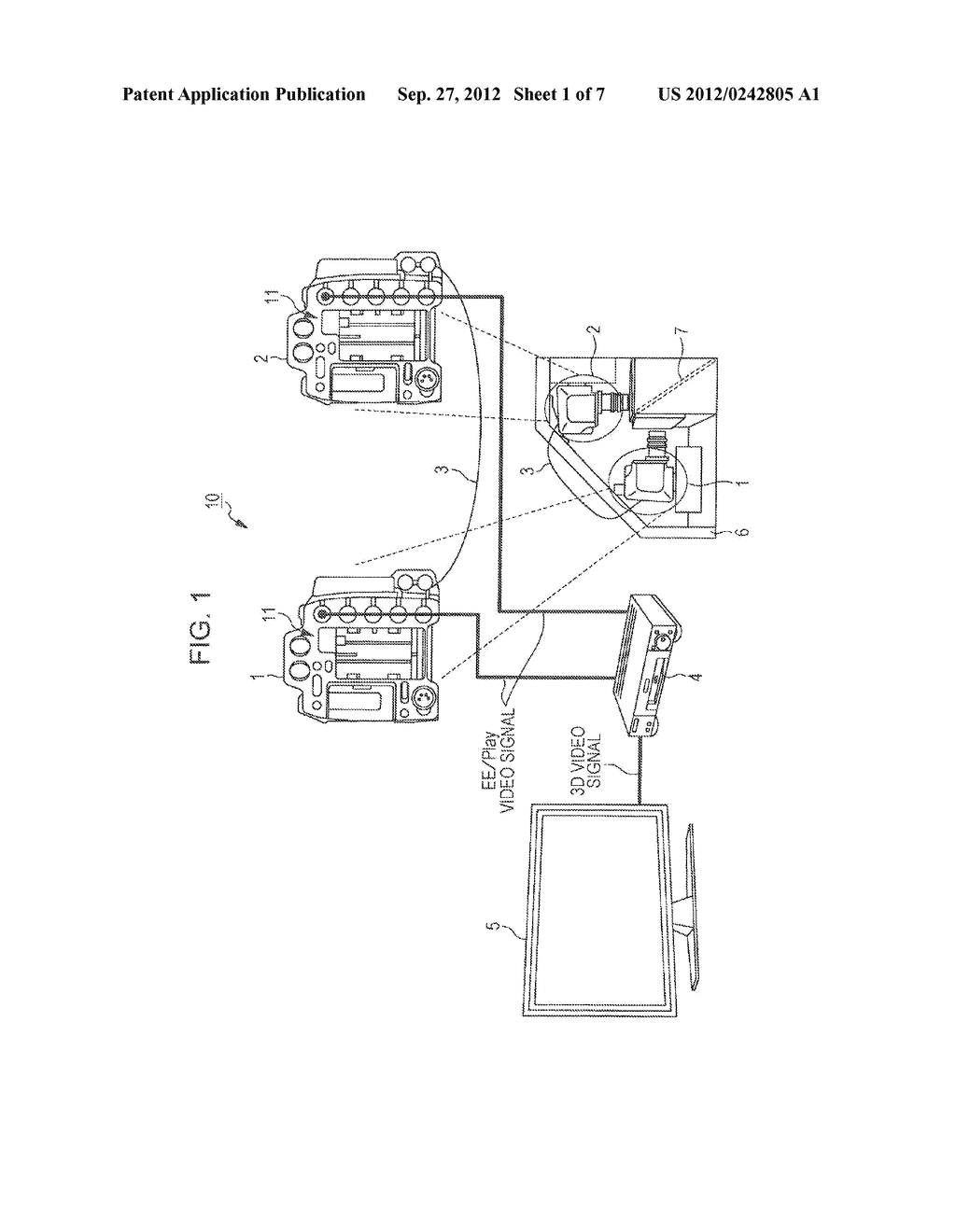 IMAGING DEVICE, SYNCHRONIZATION CONTROL METHOD, REPRODUCTION DEVICE, AND     STEREOSCOPIC VIDEO IMAGING SYSTEM - diagram, schematic, and image 02