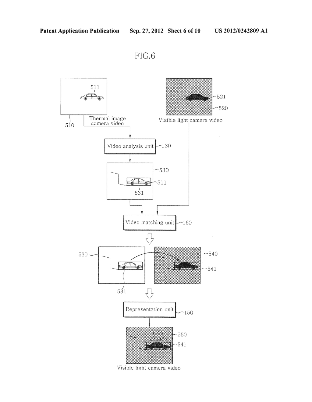 VIDEO SURVEILLANCE APPARATUS USING DUAL CAMERA AND METHOD THEREOF - diagram, schematic, and image 07
