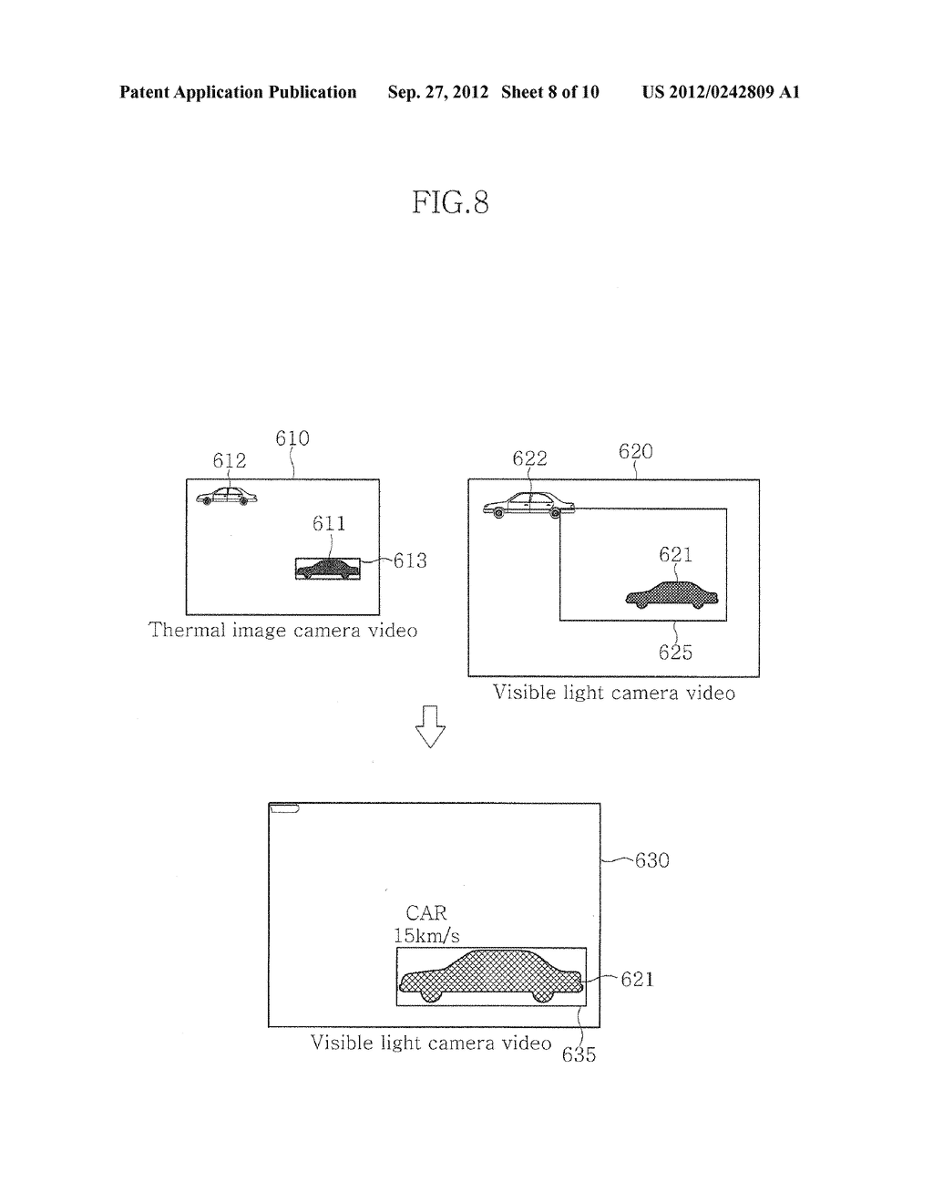 VIDEO SURVEILLANCE APPARATUS USING DUAL CAMERA AND METHOD THEREOF - diagram, schematic, and image 09