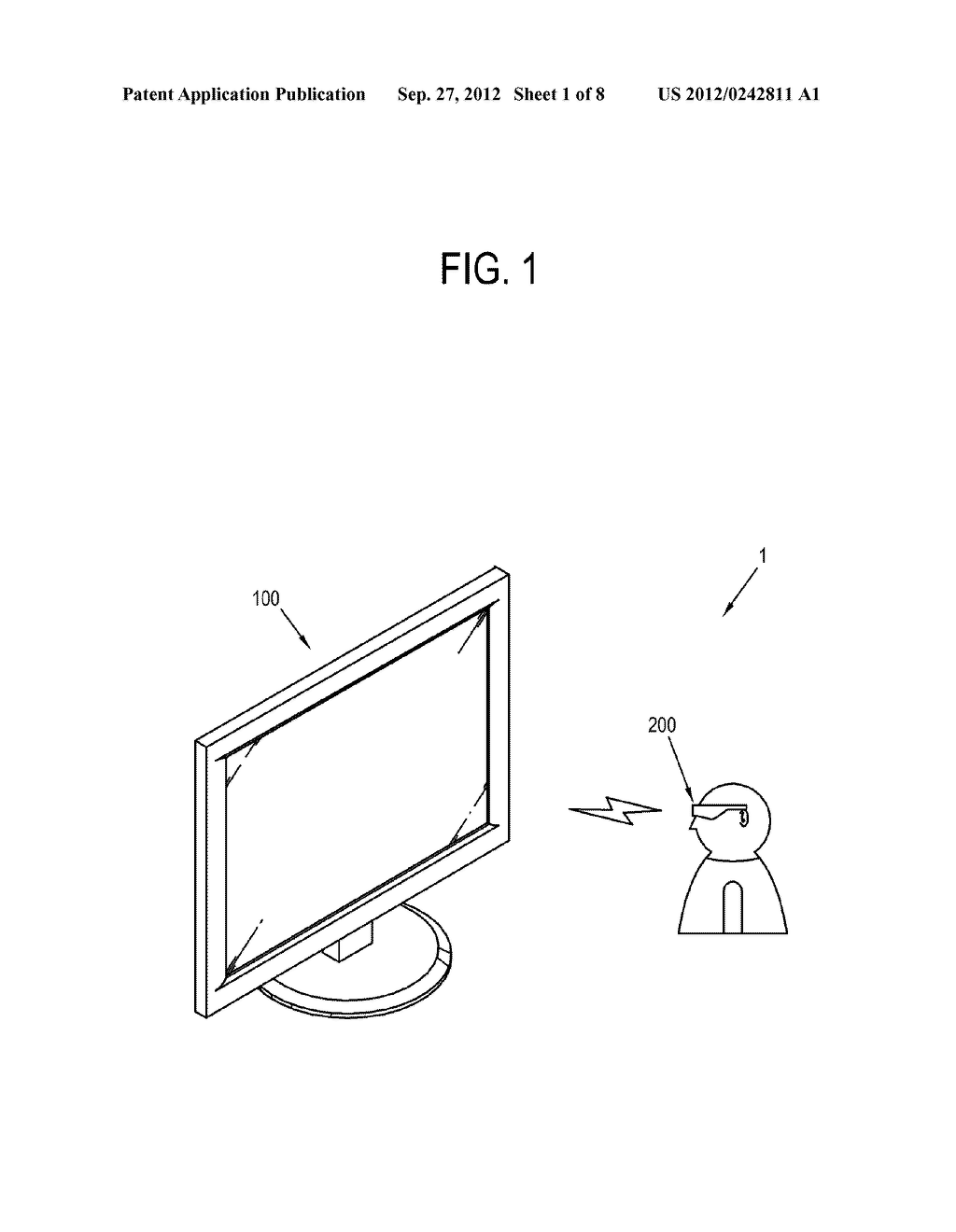 DISPLAY APPARATUS, CONTROL METHOD THEREOF, SHUTTER GLASSES AND CONTROL     METHOD THEREOF - diagram, schematic, and image 02