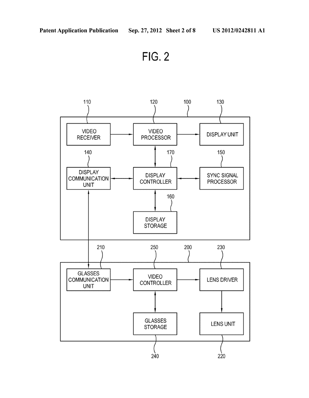 DISPLAY APPARATUS, CONTROL METHOD THEREOF, SHUTTER GLASSES AND CONTROL     METHOD THEREOF - diagram, schematic, and image 03