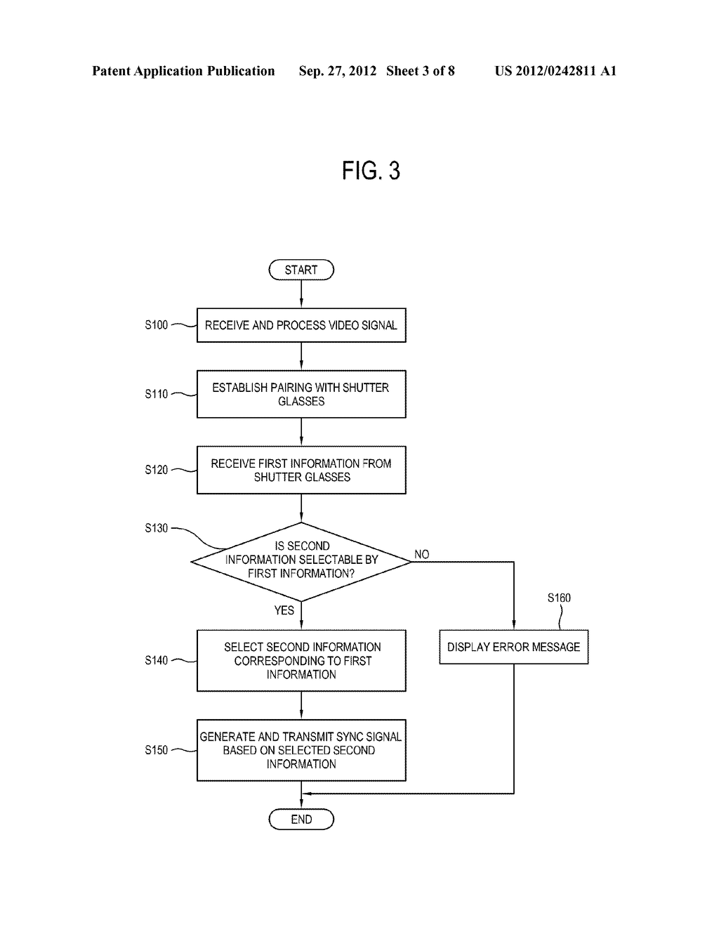 DISPLAY APPARATUS, CONTROL METHOD THEREOF, SHUTTER GLASSES AND CONTROL     METHOD THEREOF - diagram, schematic, and image 04