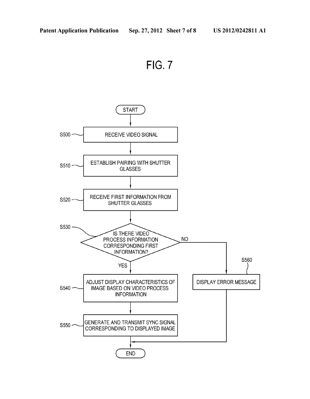 DISPLAY APPARATUS, CONTROL METHOD THEREOF, SHUTTER GLASSES AND CONTROL     METHOD THEREOF - diagram, schematic, and image 08