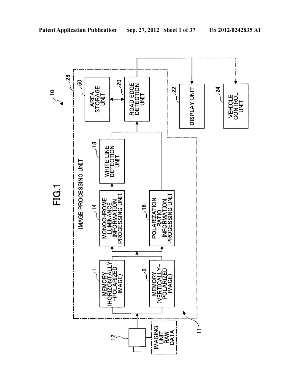 IMAGING DEVICE, ON-VEHICLE IMAGING SYSTEM, ROAD SURFACE APPEARANCE     DETECTION METHOD, AND OBJECT DETECTION DEVICE - diagram, schematic, and image 02