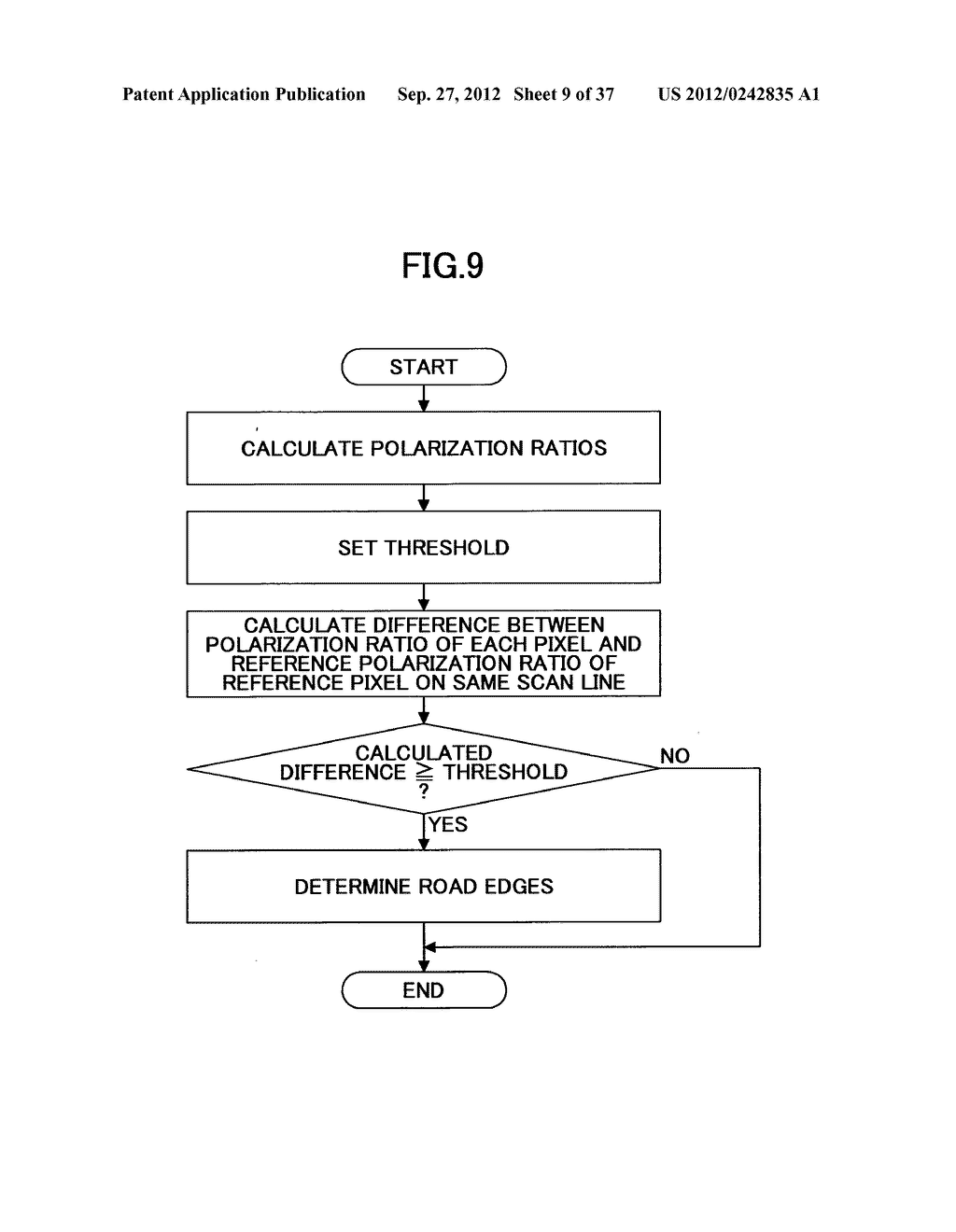 IMAGING DEVICE, ON-VEHICLE IMAGING SYSTEM, ROAD SURFACE APPEARANCE     DETECTION METHOD, AND OBJECT DETECTION DEVICE - diagram, schematic, and image 10