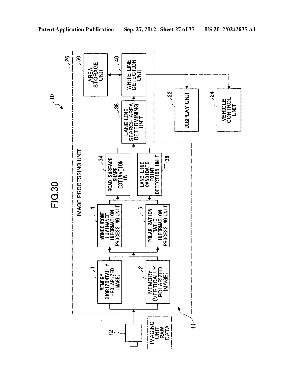 IMAGING DEVICE, ON-VEHICLE IMAGING SYSTEM, ROAD SURFACE APPEARANCE     DETECTION METHOD, AND OBJECT DETECTION DEVICE - diagram, schematic, and image 28