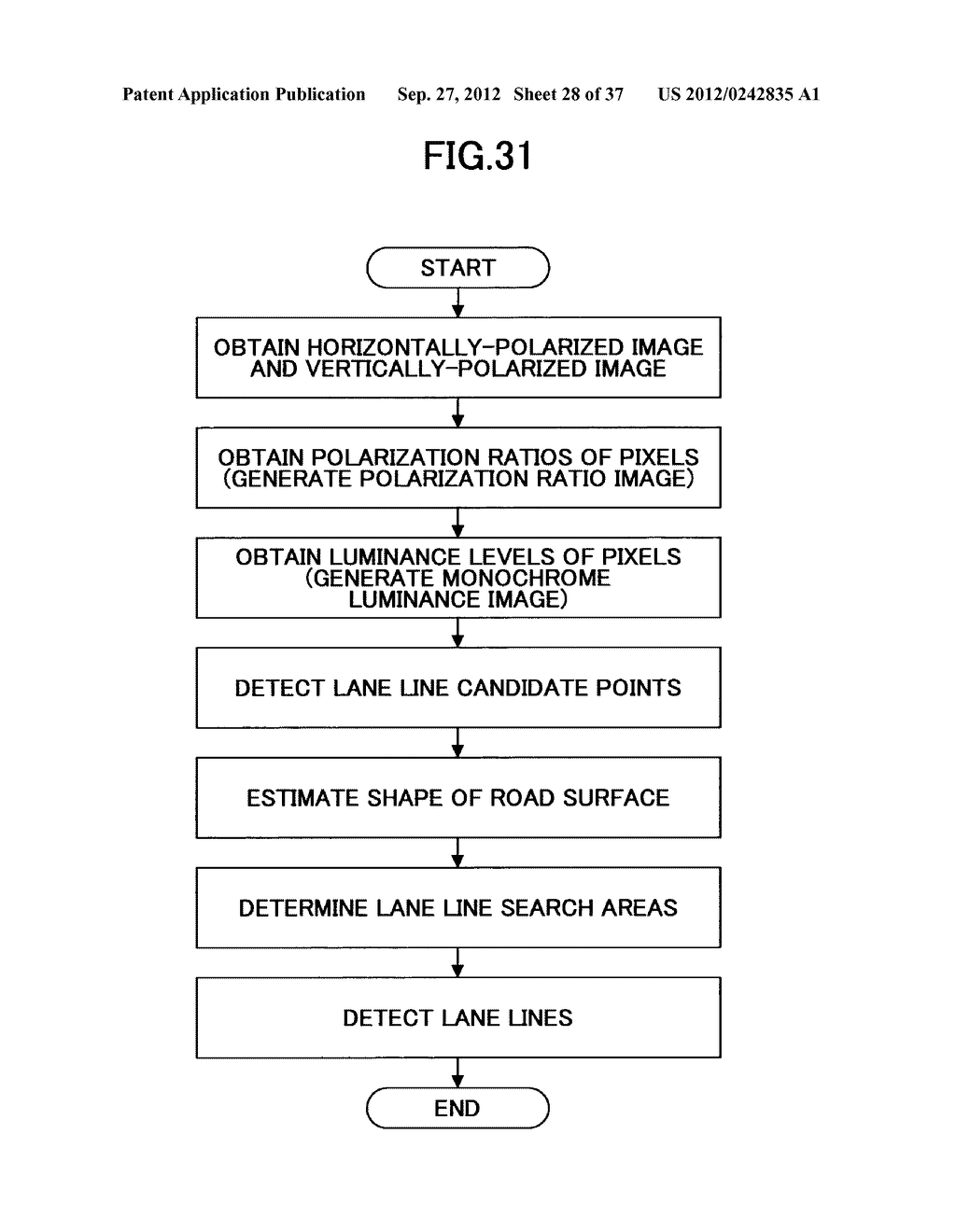 IMAGING DEVICE, ON-VEHICLE IMAGING SYSTEM, ROAD SURFACE APPEARANCE     DETECTION METHOD, AND OBJECT DETECTION DEVICE - diagram, schematic, and image 29