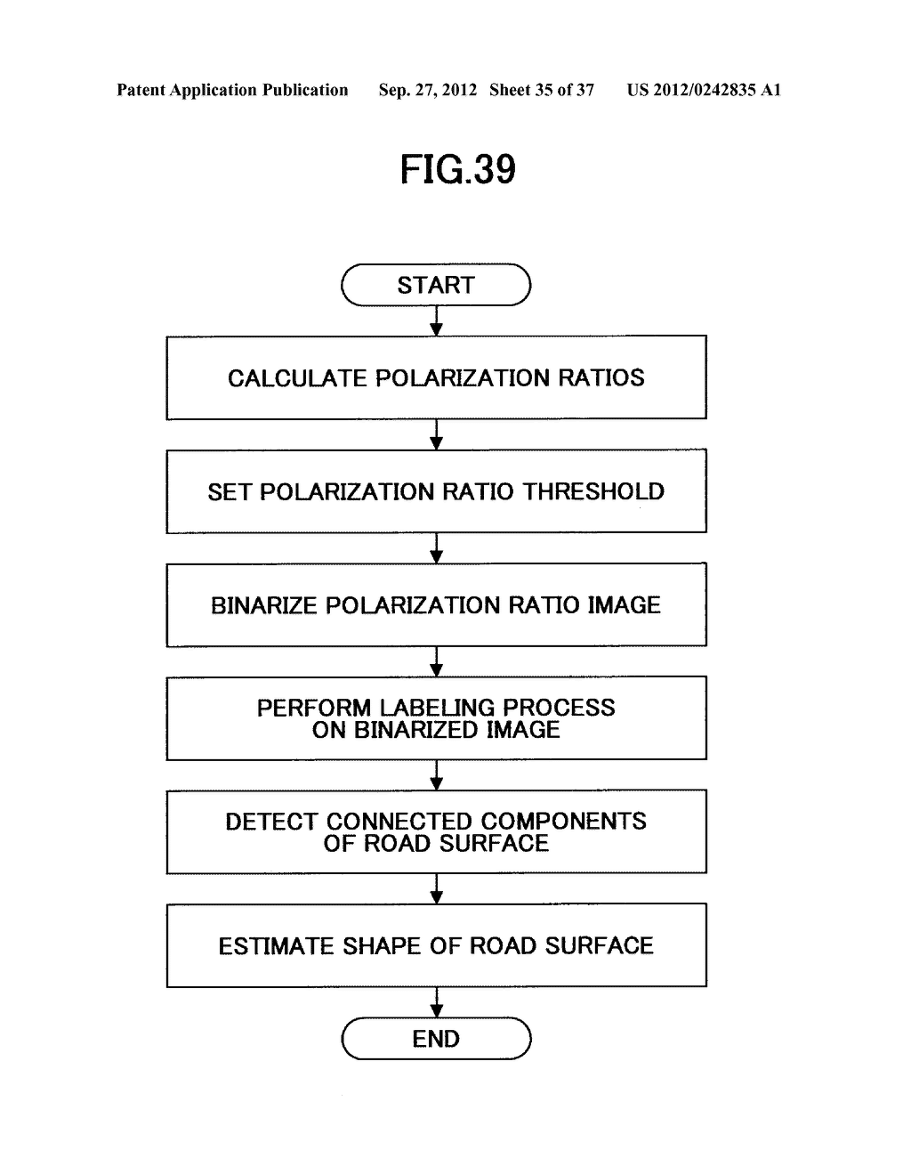 IMAGING DEVICE, ON-VEHICLE IMAGING SYSTEM, ROAD SURFACE APPEARANCE     DETECTION METHOD, AND OBJECT DETECTION DEVICE - diagram, schematic, and image 36
