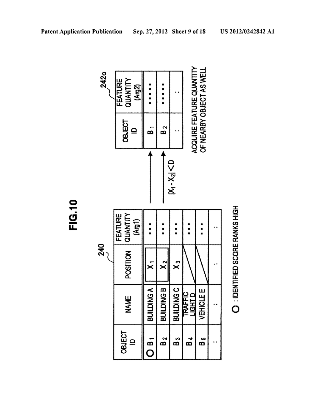 TERMINAL DEVICE, INFORMATION PROCESSING DEVICE, OBJECT IDENTIFYING METHOD,     PROGRAM, AND OBJECT IDENTIFYING SYSTEM - diagram, schematic, and image 10