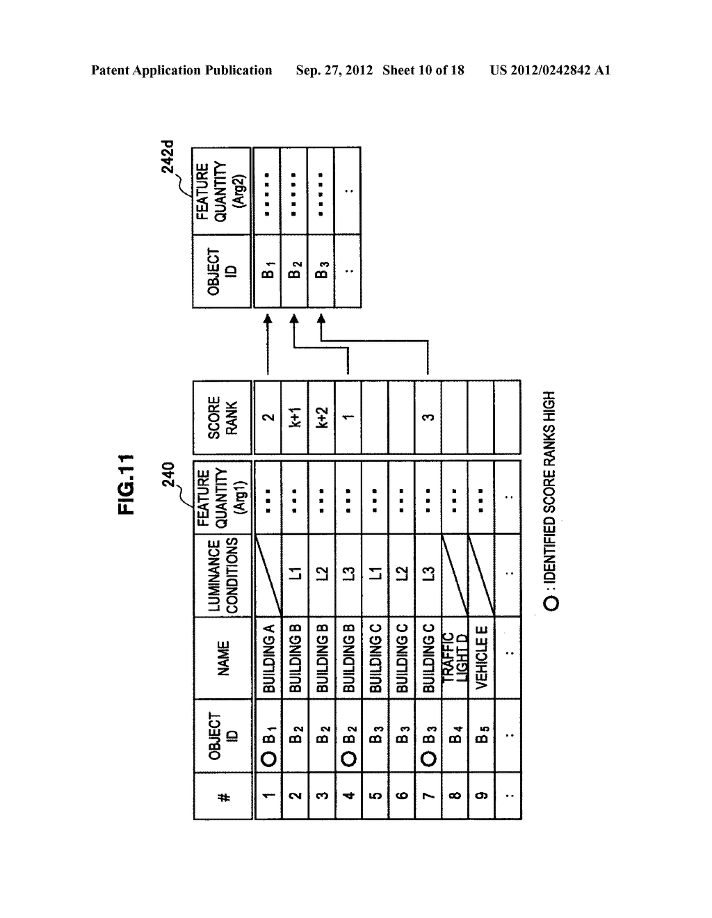 TERMINAL DEVICE, INFORMATION PROCESSING DEVICE, OBJECT IDENTIFYING METHOD,     PROGRAM, AND OBJECT IDENTIFYING SYSTEM - diagram, schematic, and image 11