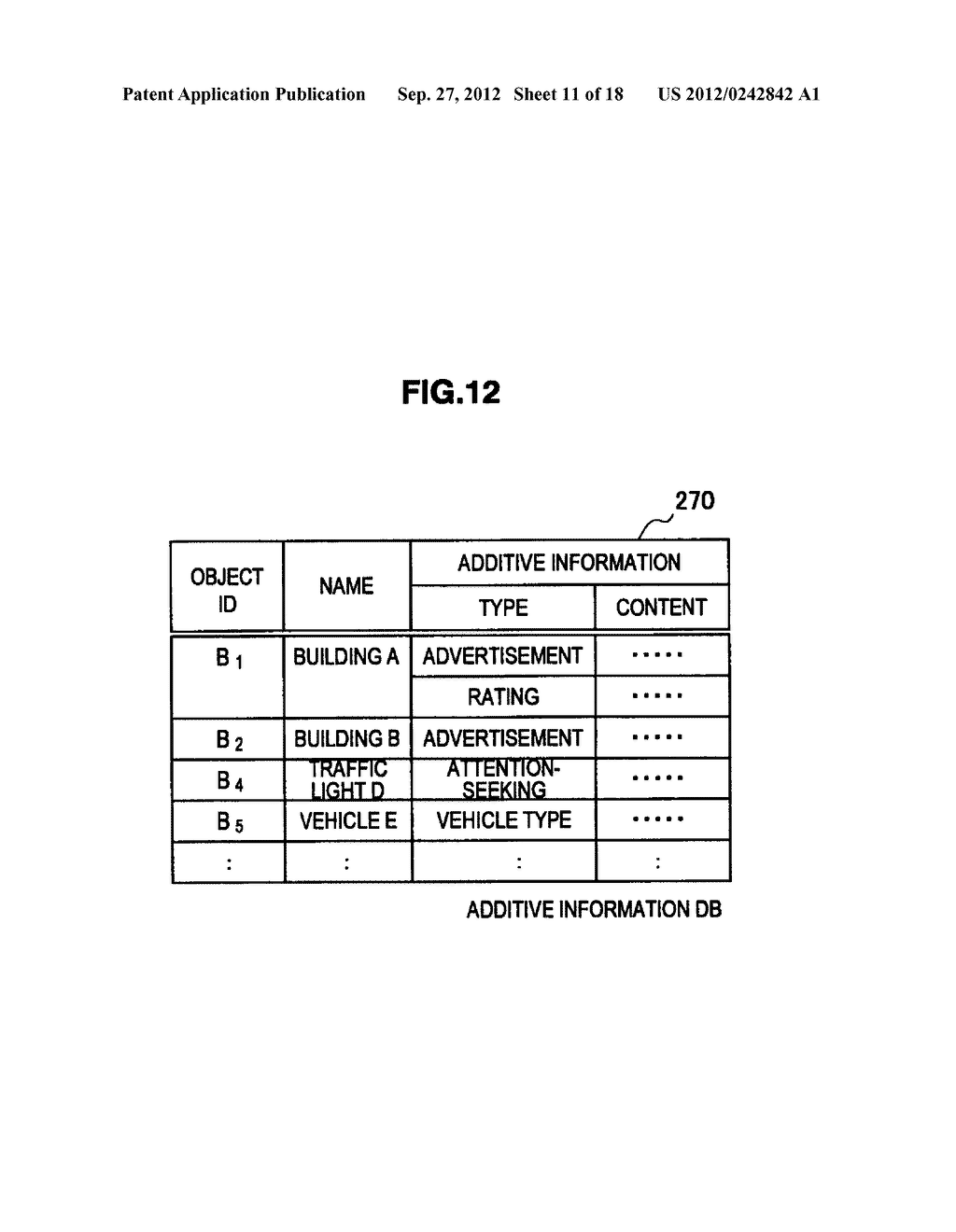 TERMINAL DEVICE, INFORMATION PROCESSING DEVICE, OBJECT IDENTIFYING METHOD,     PROGRAM, AND OBJECT IDENTIFYING SYSTEM - diagram, schematic, and image 12