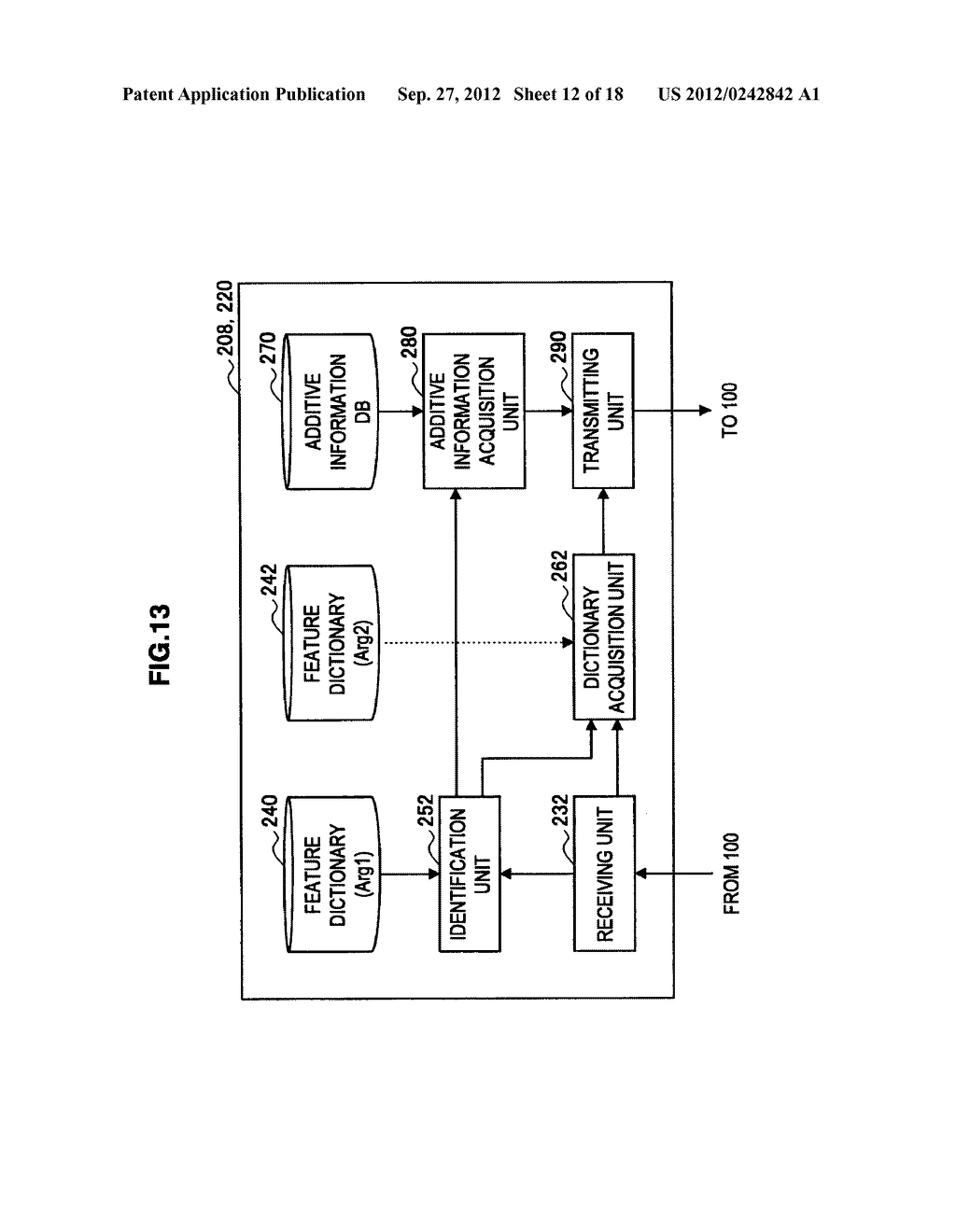 TERMINAL DEVICE, INFORMATION PROCESSING DEVICE, OBJECT IDENTIFYING METHOD,     PROGRAM, AND OBJECT IDENTIFYING SYSTEM - diagram, schematic, and image 13