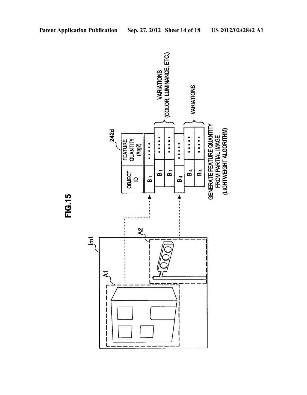 TERMINAL DEVICE, INFORMATION PROCESSING DEVICE, OBJECT IDENTIFYING METHOD,     PROGRAM, AND OBJECT IDENTIFYING SYSTEM - diagram, schematic, and image 15