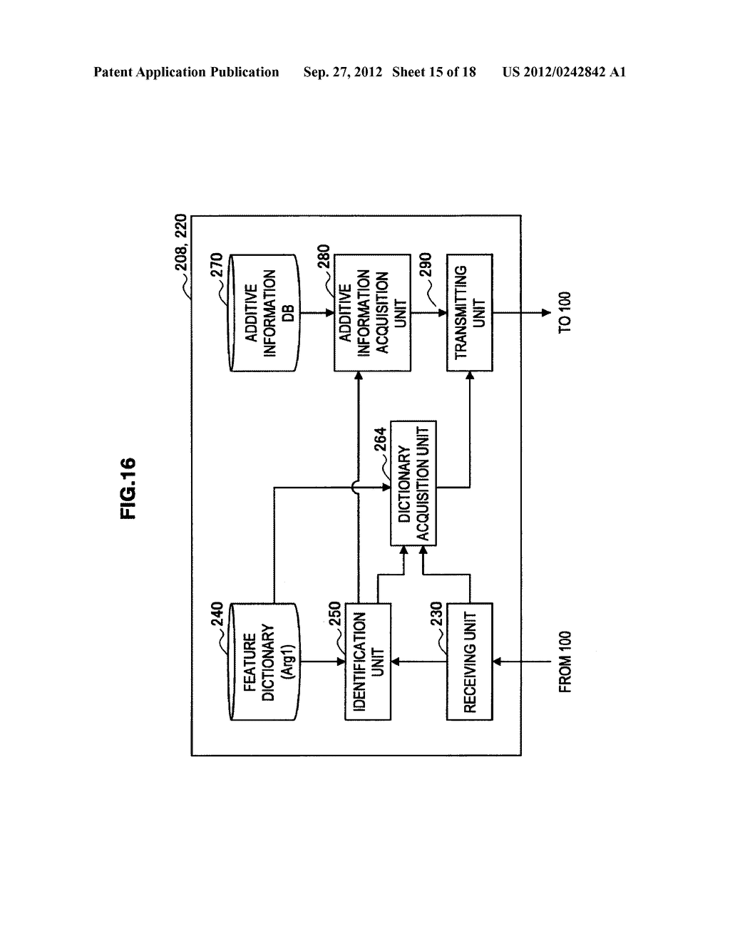 TERMINAL DEVICE, INFORMATION PROCESSING DEVICE, OBJECT IDENTIFYING METHOD,     PROGRAM, AND OBJECT IDENTIFYING SYSTEM - diagram, schematic, and image 16