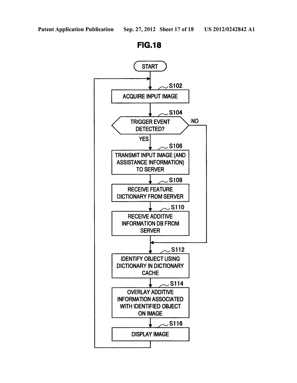 TERMINAL DEVICE, INFORMATION PROCESSING DEVICE, OBJECT IDENTIFYING METHOD,     PROGRAM, AND OBJECT IDENTIFYING SYSTEM - diagram, schematic, and image 18
