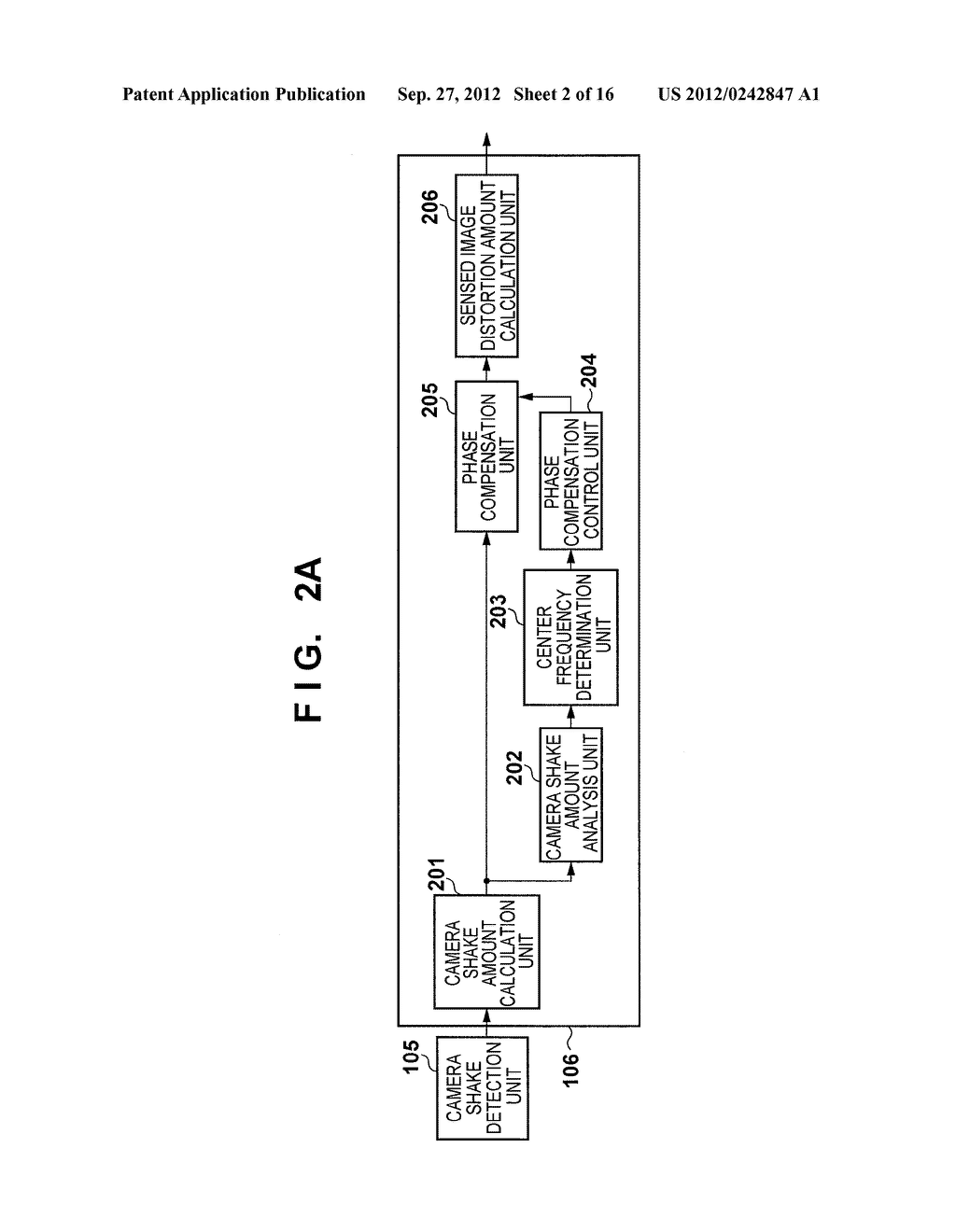 IMAGE SENSING APPARATUS FOR CORRECTING IMAGE DISTORTION CAUSED BY HAND     SHAKE, AND CONTROL METHOD THEREOF - diagram, schematic, and image 03