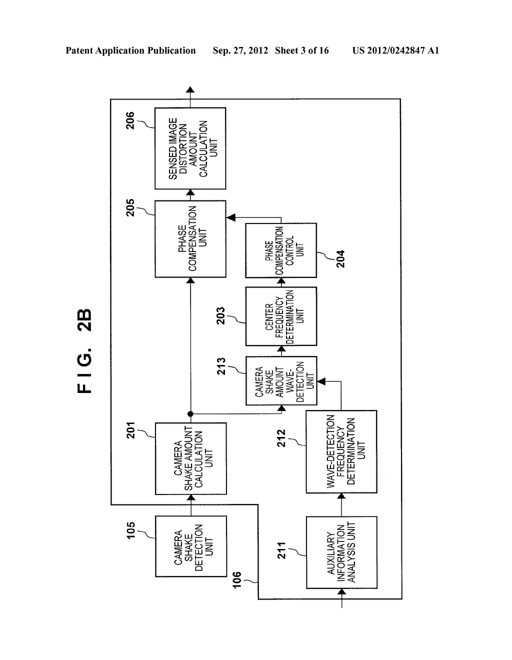 IMAGE SENSING APPARATUS FOR CORRECTING IMAGE DISTORTION CAUSED BY HAND     SHAKE, AND CONTROL METHOD THEREOF - diagram, schematic, and image 04
