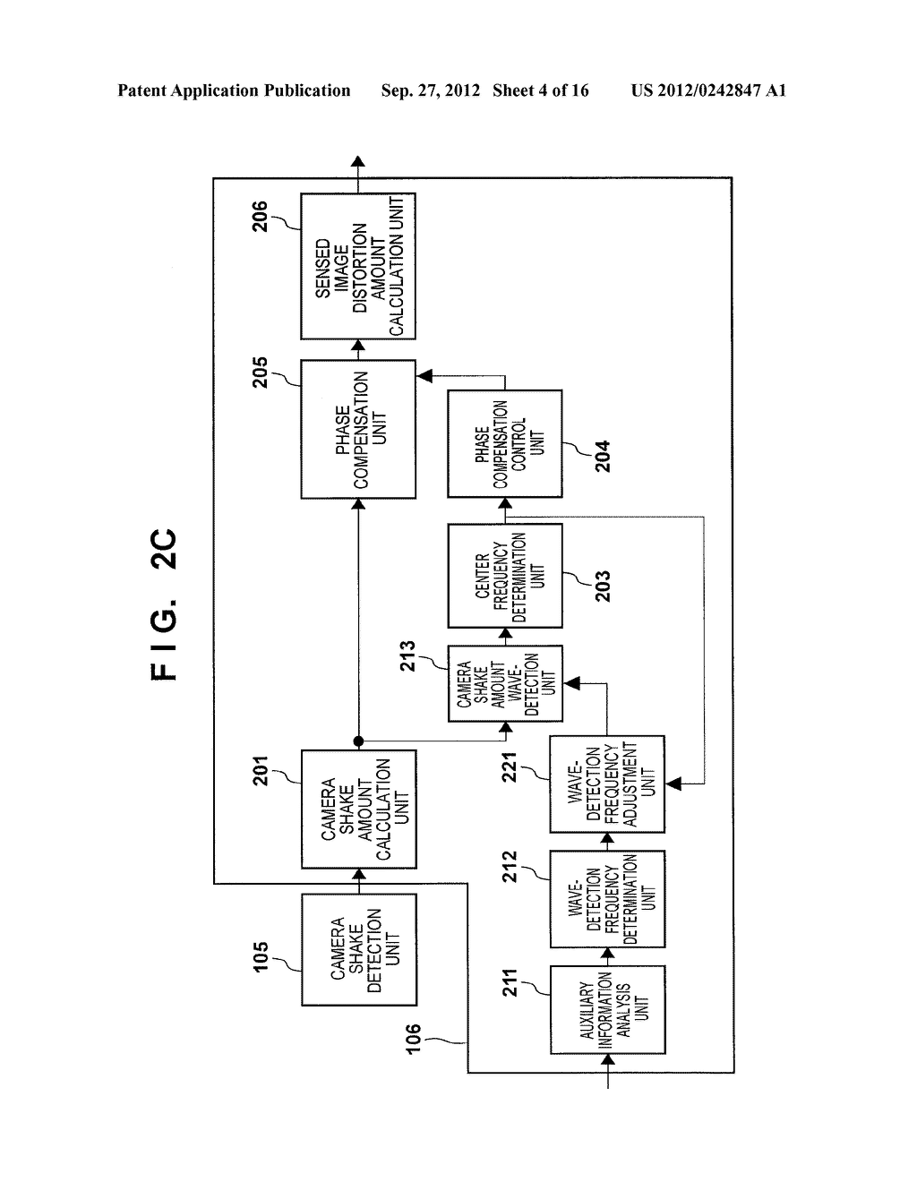 IMAGE SENSING APPARATUS FOR CORRECTING IMAGE DISTORTION CAUSED BY HAND     SHAKE, AND CONTROL METHOD THEREOF - diagram, schematic, and image 05