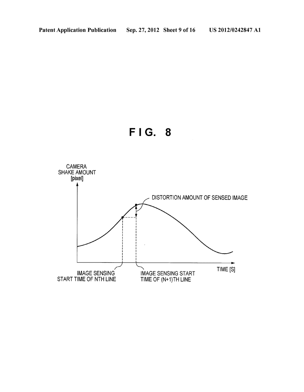 IMAGE SENSING APPARATUS FOR CORRECTING IMAGE DISTORTION CAUSED BY HAND     SHAKE, AND CONTROL METHOD THEREOF - diagram, schematic, and image 10