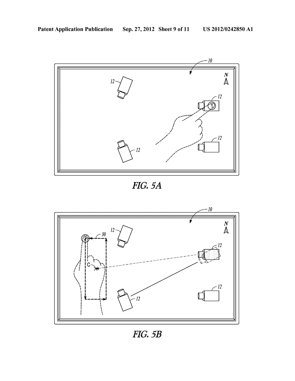 METHOD OF DEFINING CAMERA SCAN MOVEMENTS USING GESTURES - diagram, schematic, and image 10