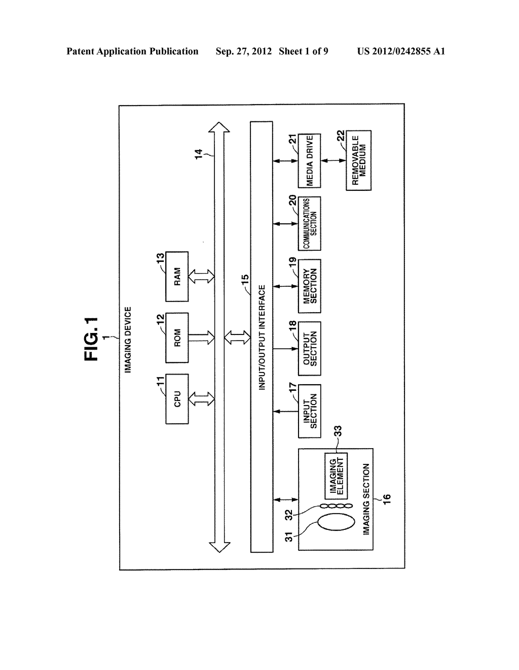 DEVICE AND METHOD INCLUDING FUNCTION FOR RECONSTITUTING AN IMAGE, AND     STORAGE MEDIUM - diagram, schematic, and image 02