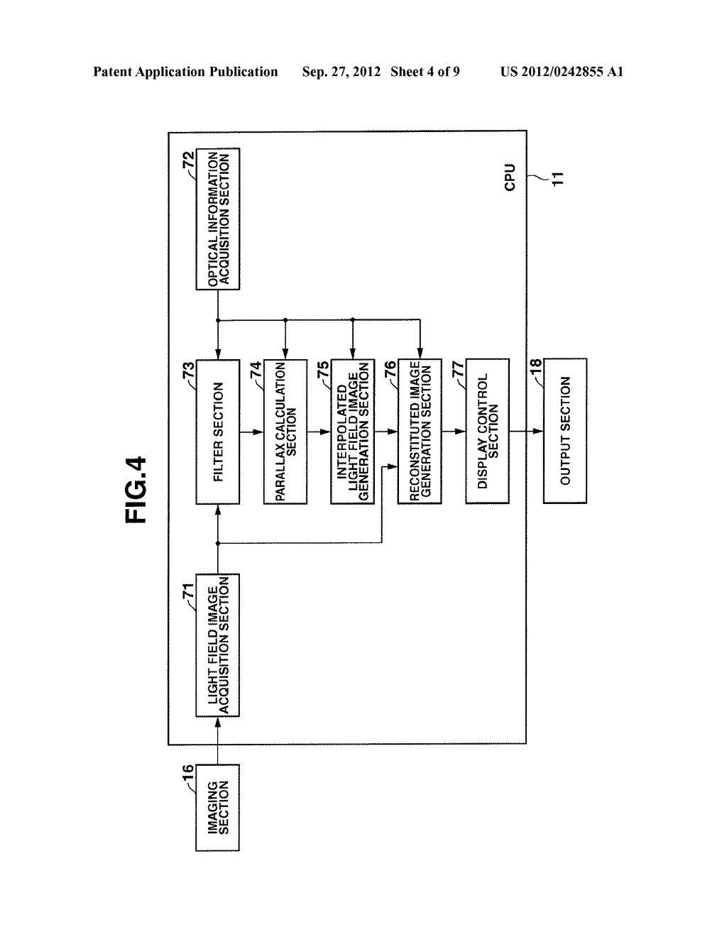 DEVICE AND METHOD INCLUDING FUNCTION FOR RECONSTITUTING AN IMAGE, AND     STORAGE MEDIUM - diagram, schematic, and image 05