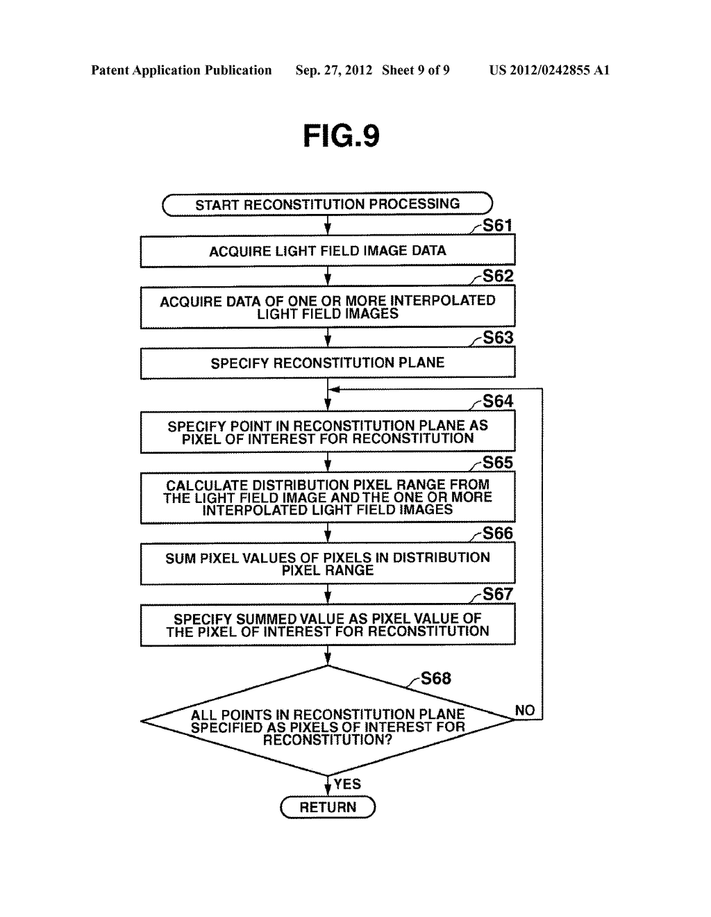 DEVICE AND METHOD INCLUDING FUNCTION FOR RECONSTITUTING AN IMAGE, AND     STORAGE MEDIUM - diagram, schematic, and image 10
