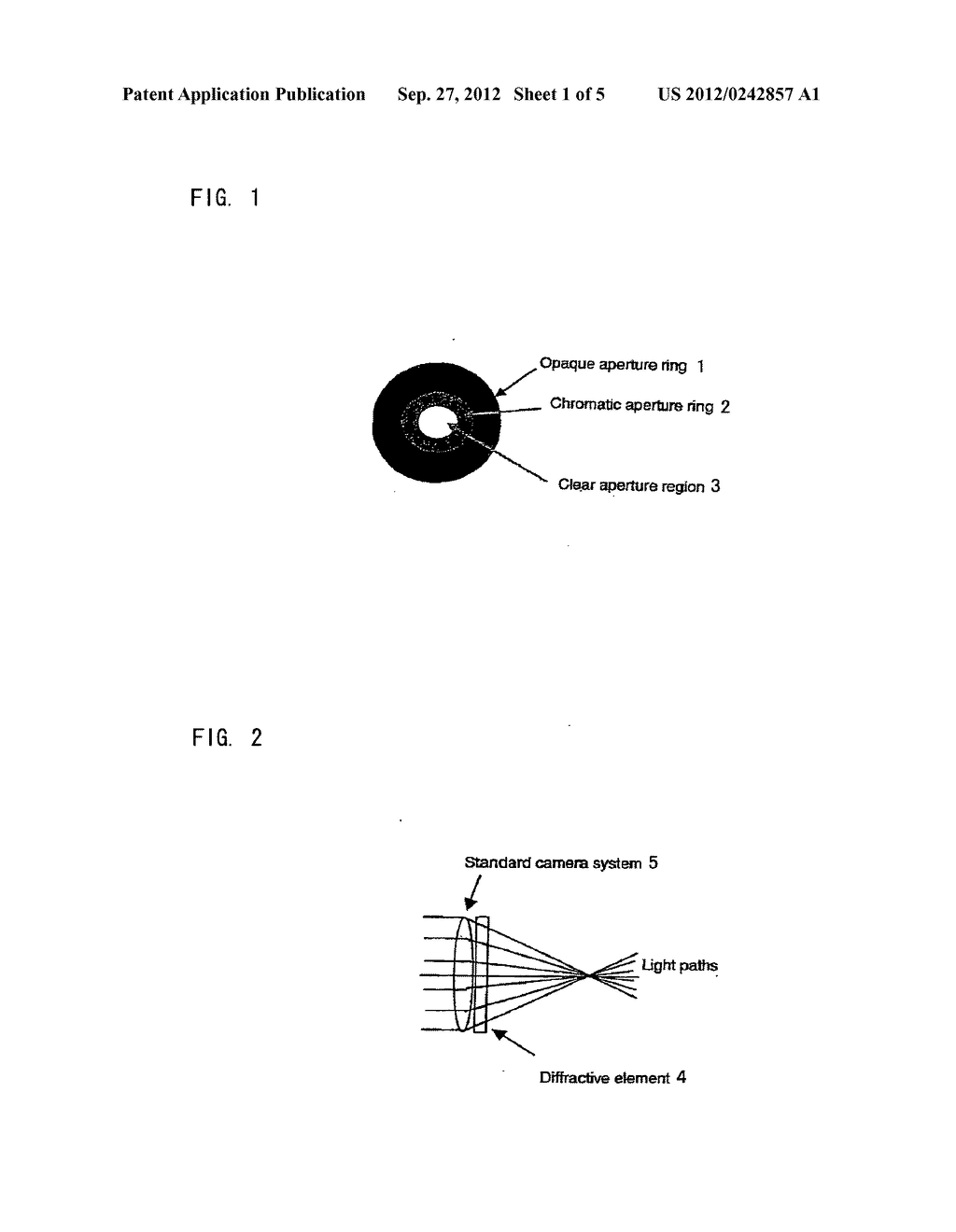 CAMERA INCLUDING IMAGING SYSTEM HAVING DIFFERENT DEPTHS OF FIELD FOR     DIFFERENT FREQUENCIES OF OPTICAL RADIATION - diagram, schematic, and image 02