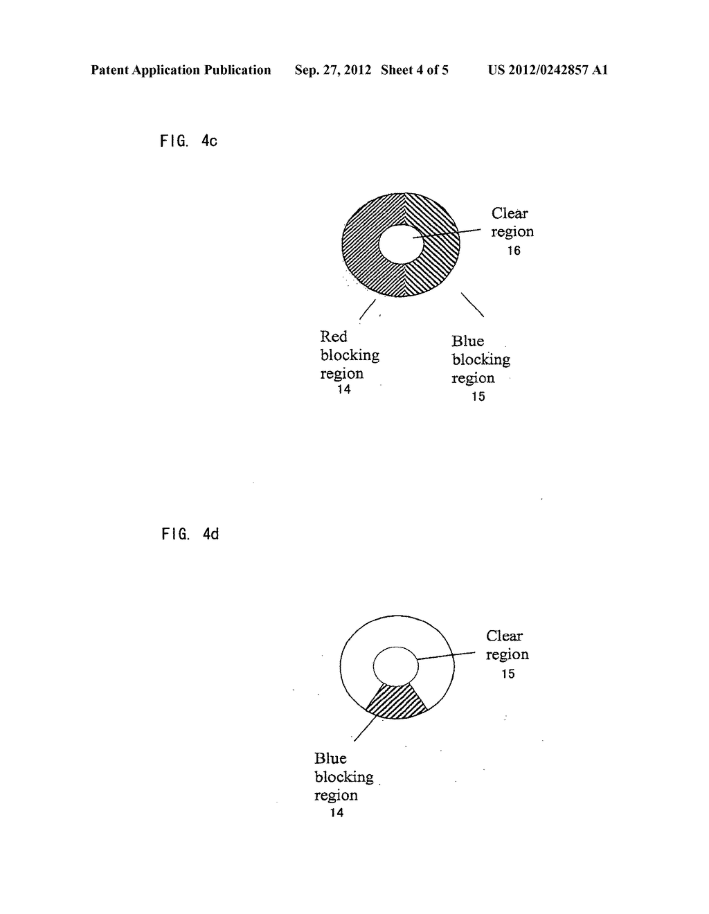 CAMERA INCLUDING IMAGING SYSTEM HAVING DIFFERENT DEPTHS OF FIELD FOR     DIFFERENT FREQUENCIES OF OPTICAL RADIATION - diagram, schematic, and image 05