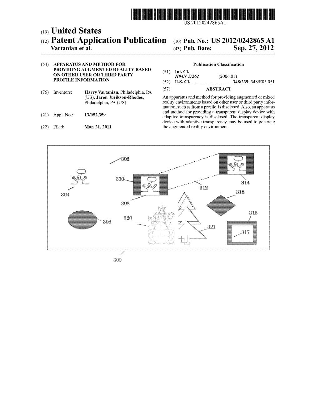 APPARATUS AND METHOD FOR PROVIDING AUGMENTED REALITY BASED ON OTHER USER     OR THIRD PARTY PROFILE INFORMATION - diagram, schematic, and image 01