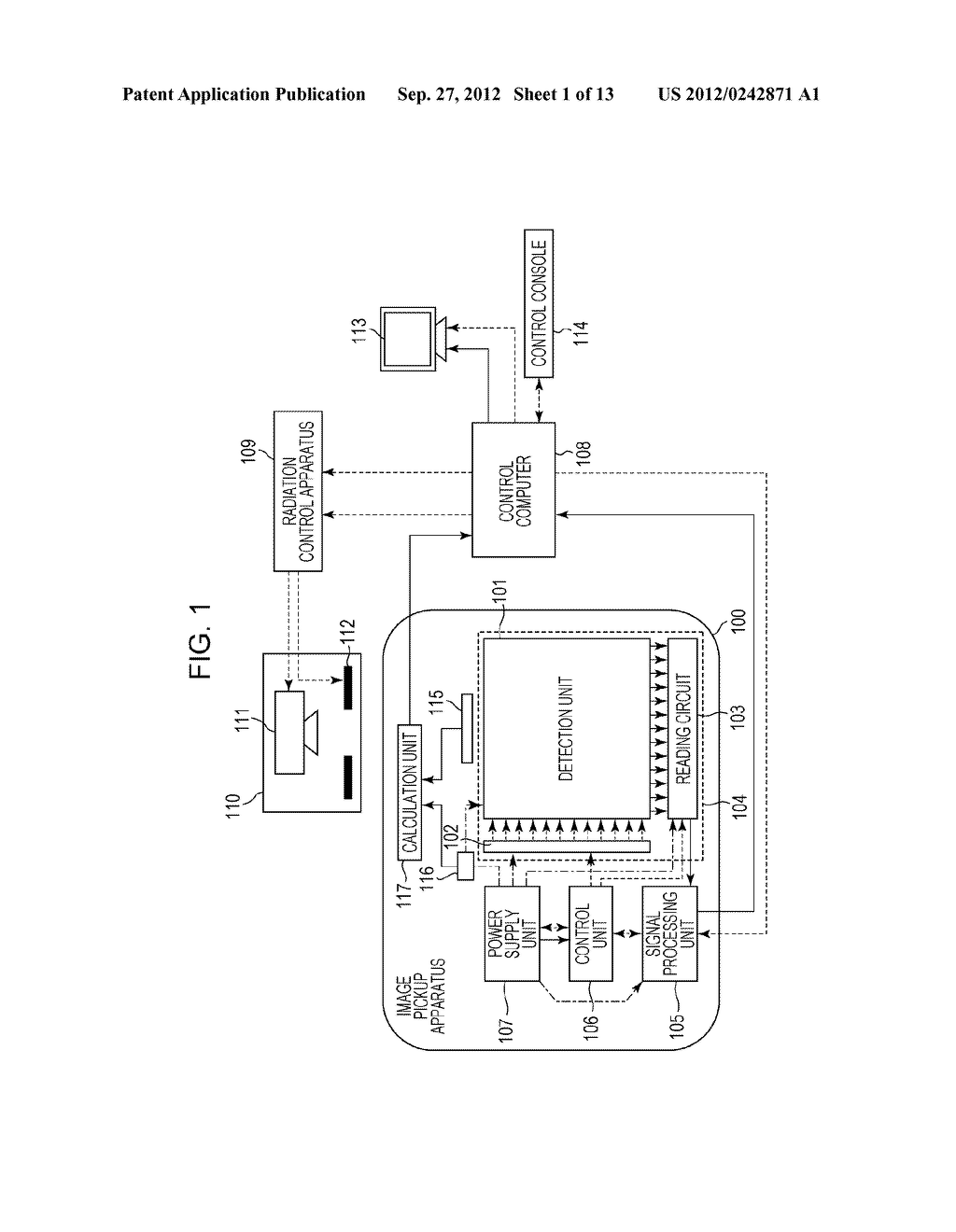 IMAGE PICKUP APPARATUS, IMAGE PICKUP SYSTEM, AND METHOD OF CONTROLLING     THEM - diagram, schematic, and image 02
