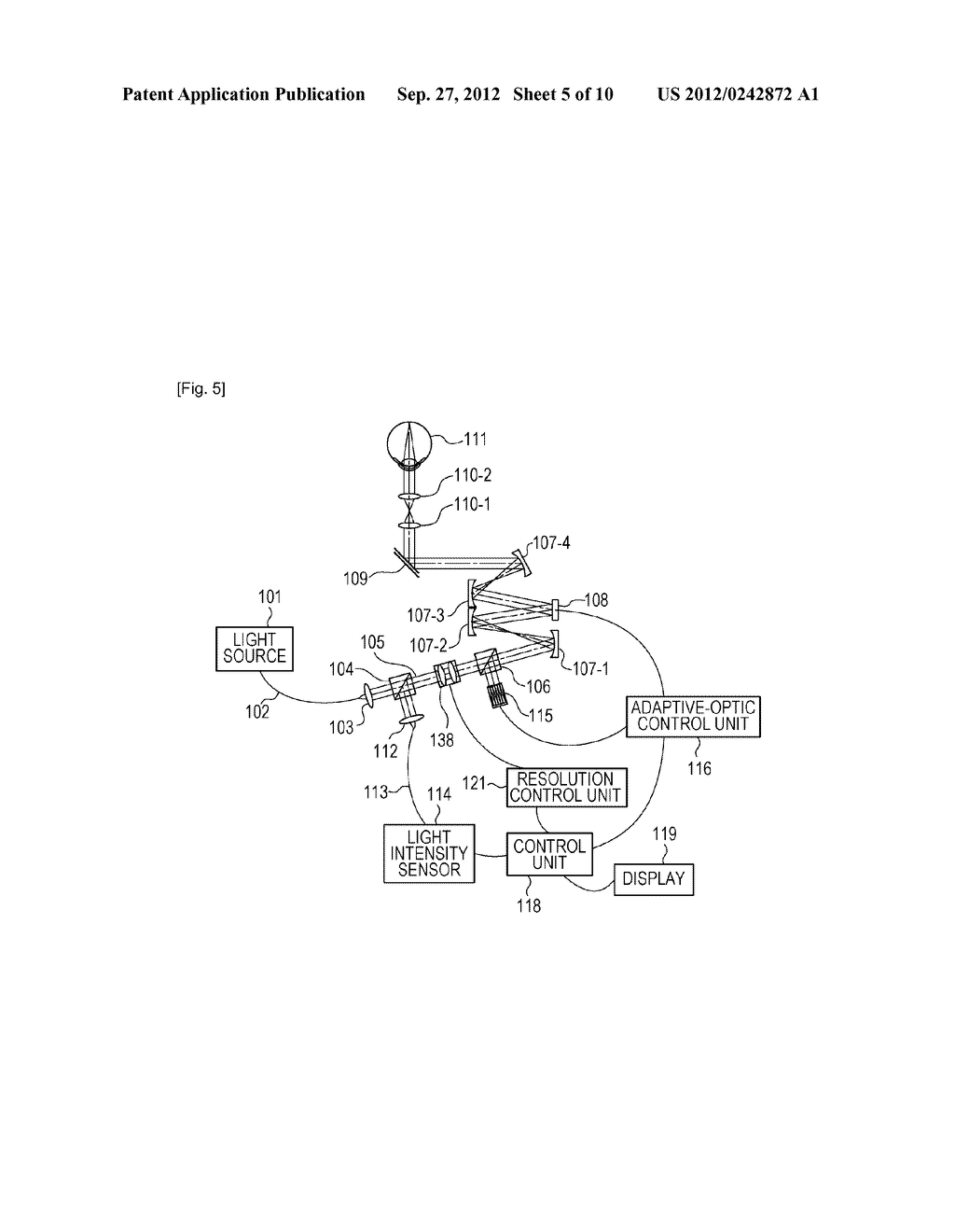 OPTICAL-IMAGE PICKUP APPARATUS AND METHOD FOR CONTROLLING THE SAME - diagram, schematic, and image 06