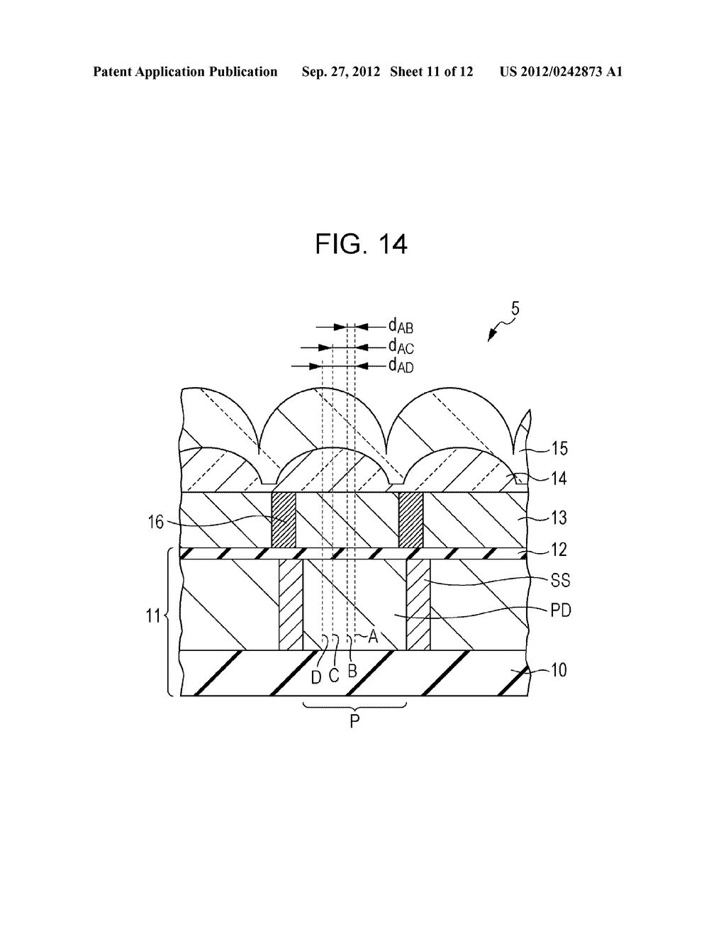SOLID-STATE IMAGING DEVICE, METHOD OF MANUFACTURING SOLID-STATE IMAGING     DEVICE, AND ELECTRONIC APPARATUS - diagram, schematic, and image 12