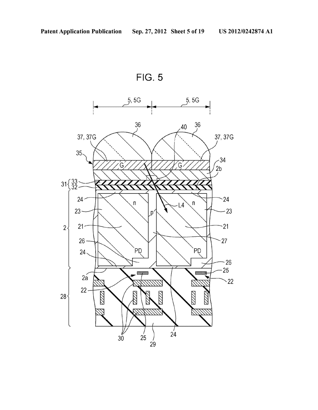 SOLID-STATE IMAGING DEVICE AND ELECTRONIC APPARATUS - diagram, schematic, and image 06