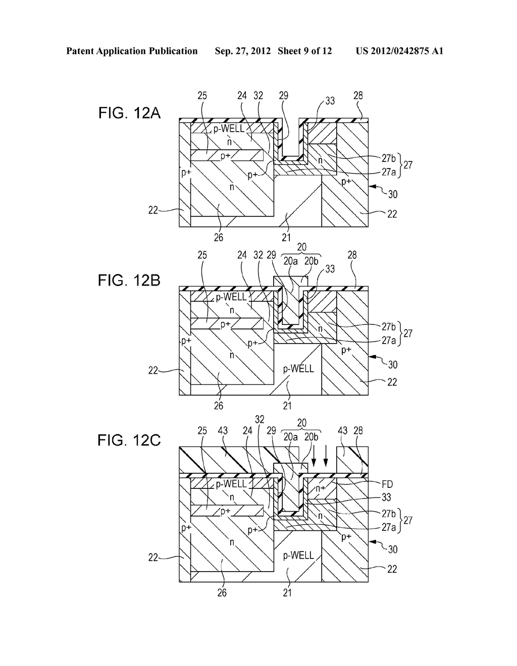 SOLID STATE IMAGING DEVICE, METHOD OF PRODUCING SOLID STATE IMAGING     DEVICE, AND ELECTRONIC APPARATUS - diagram, schematic, and image 10