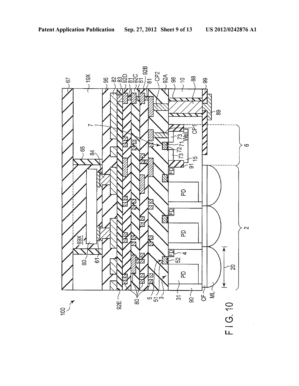 SOLID-STATE IMAGE SENSING DEVICE, CAMERA MODULE, AND SOLID-STATE IMAGE     SENSING DEVICE MANUFACTURING METHOD - diagram, schematic, and image 10