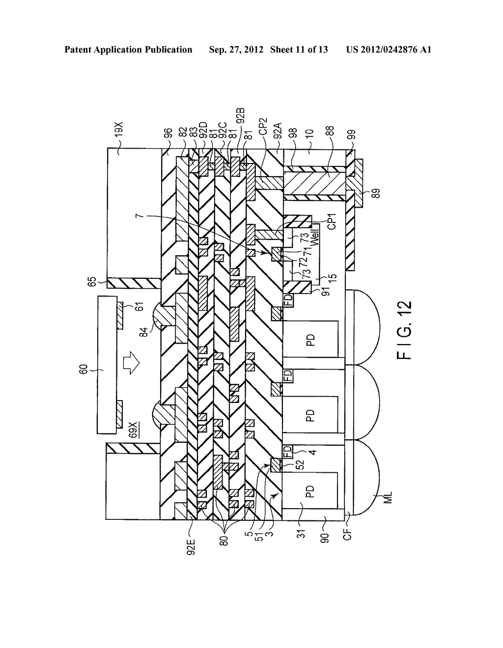 SOLID-STATE IMAGE SENSING DEVICE, CAMERA MODULE, AND SOLID-STATE IMAGE     SENSING DEVICE MANUFACTURING METHOD - diagram, schematic, and image 12