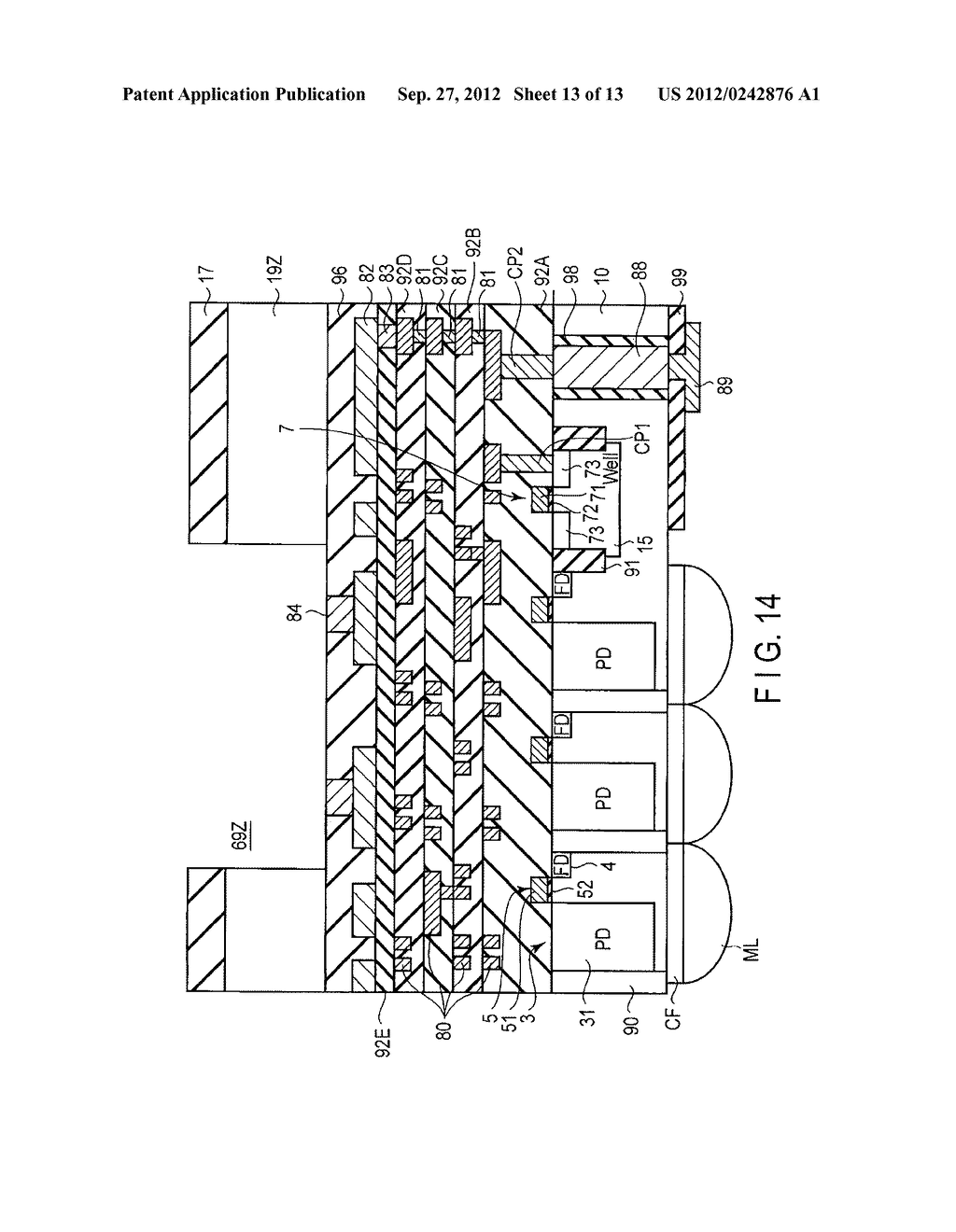 SOLID-STATE IMAGE SENSING DEVICE, CAMERA MODULE, AND SOLID-STATE IMAGE     SENSING DEVICE MANUFACTURING METHOD - diagram, schematic, and image 14