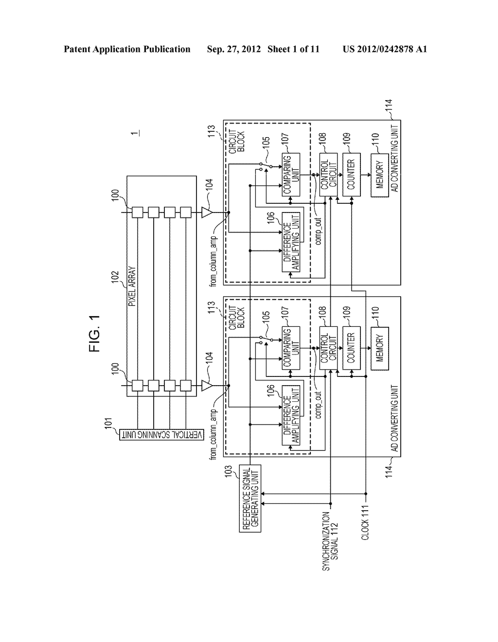 AD CONVERTING CIRCUIT, PHOTOELECTRIC CONVERTING APPARATUS, IMAGE PICKUP     SYSTEM, AND DRIVING METHOD FOR AD CONVERTING CIRCUIT - diagram, schematic, and image 02
