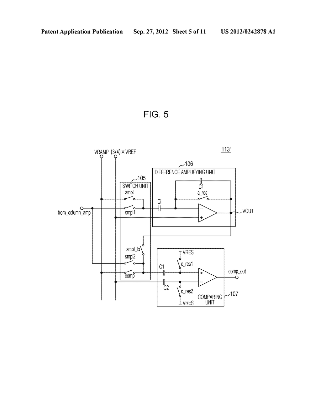 AD CONVERTING CIRCUIT, PHOTOELECTRIC CONVERTING APPARATUS, IMAGE PICKUP     SYSTEM, AND DRIVING METHOD FOR AD CONVERTING CIRCUIT - diagram, schematic, and image 06