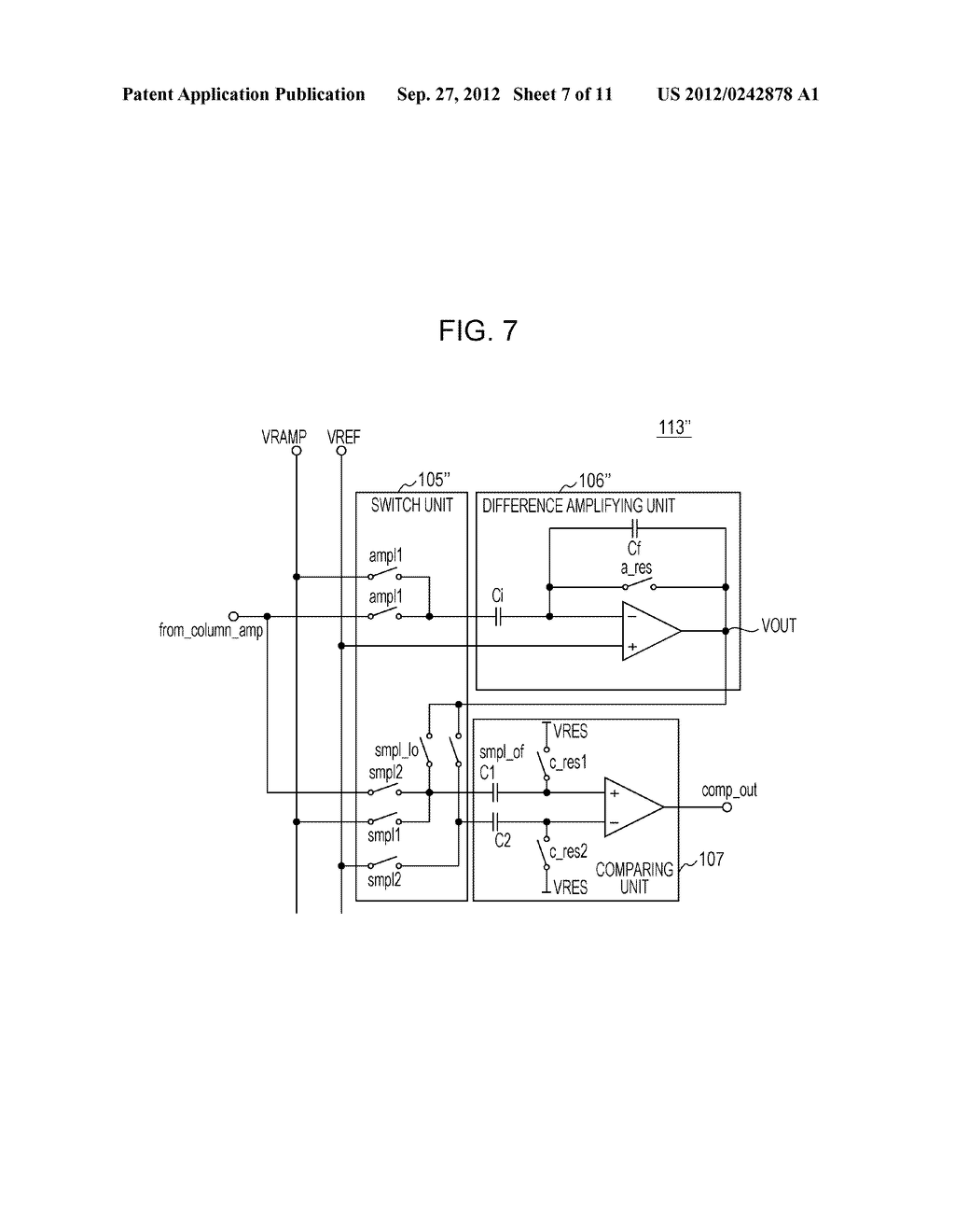 AD CONVERTING CIRCUIT, PHOTOELECTRIC CONVERTING APPARATUS, IMAGE PICKUP     SYSTEM, AND DRIVING METHOD FOR AD CONVERTING CIRCUIT - diagram, schematic, and image 08