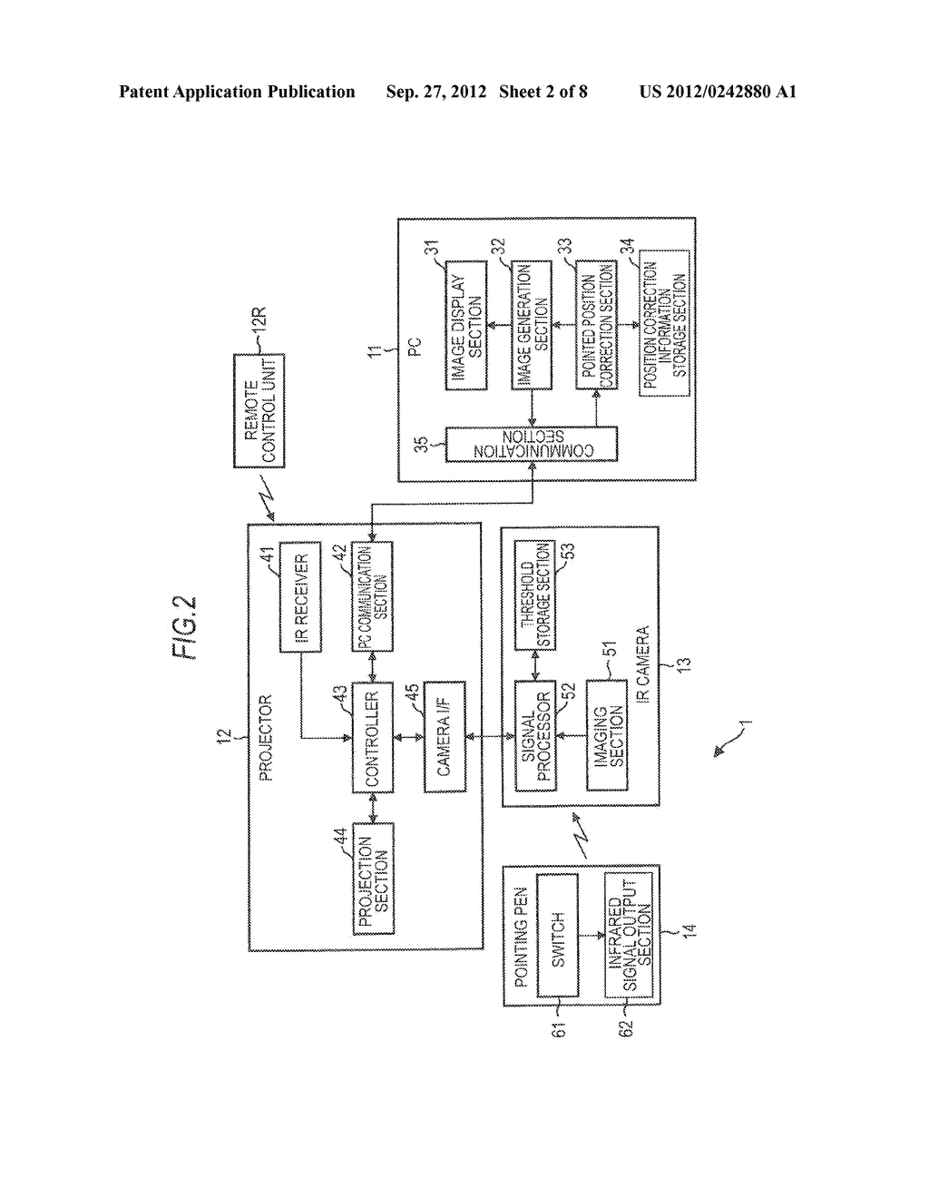 OPTICAL SIGNAL OUTPUT APPARATUS, SIGNAL PROCESSING APPARATUS, SIGNAL     PROCESSING METHOD, IMAGING APPARATUS, AND PROJECTOR - diagram, schematic, and image 03