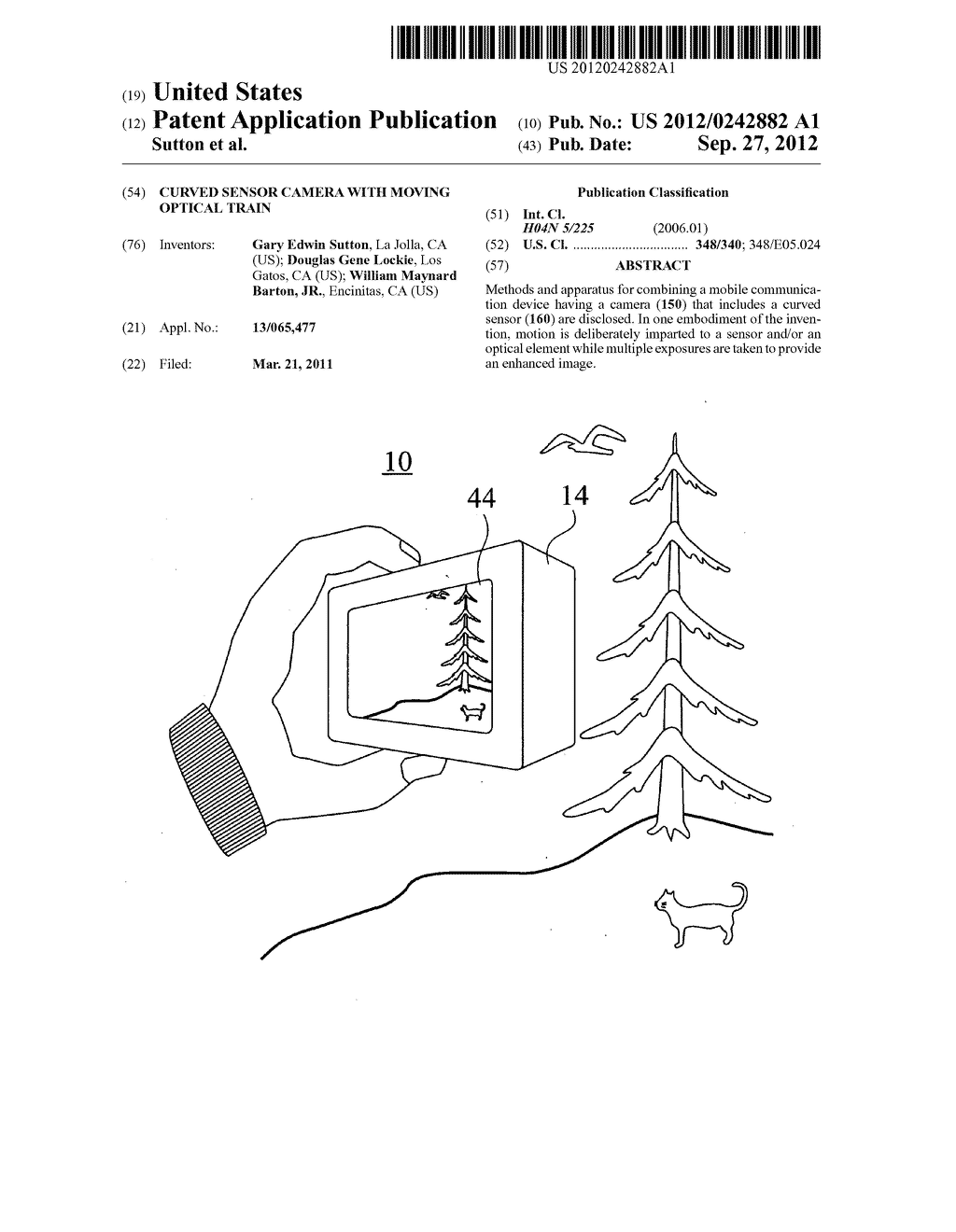 Curved sensor camera with moving optical train - diagram, schematic, and image 01