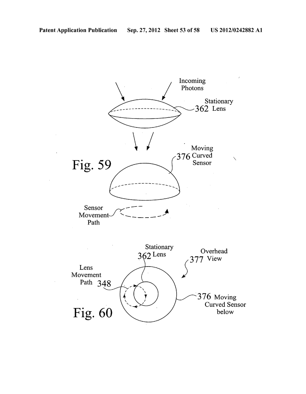 Curved sensor camera with moving optical train - diagram, schematic, and image 54