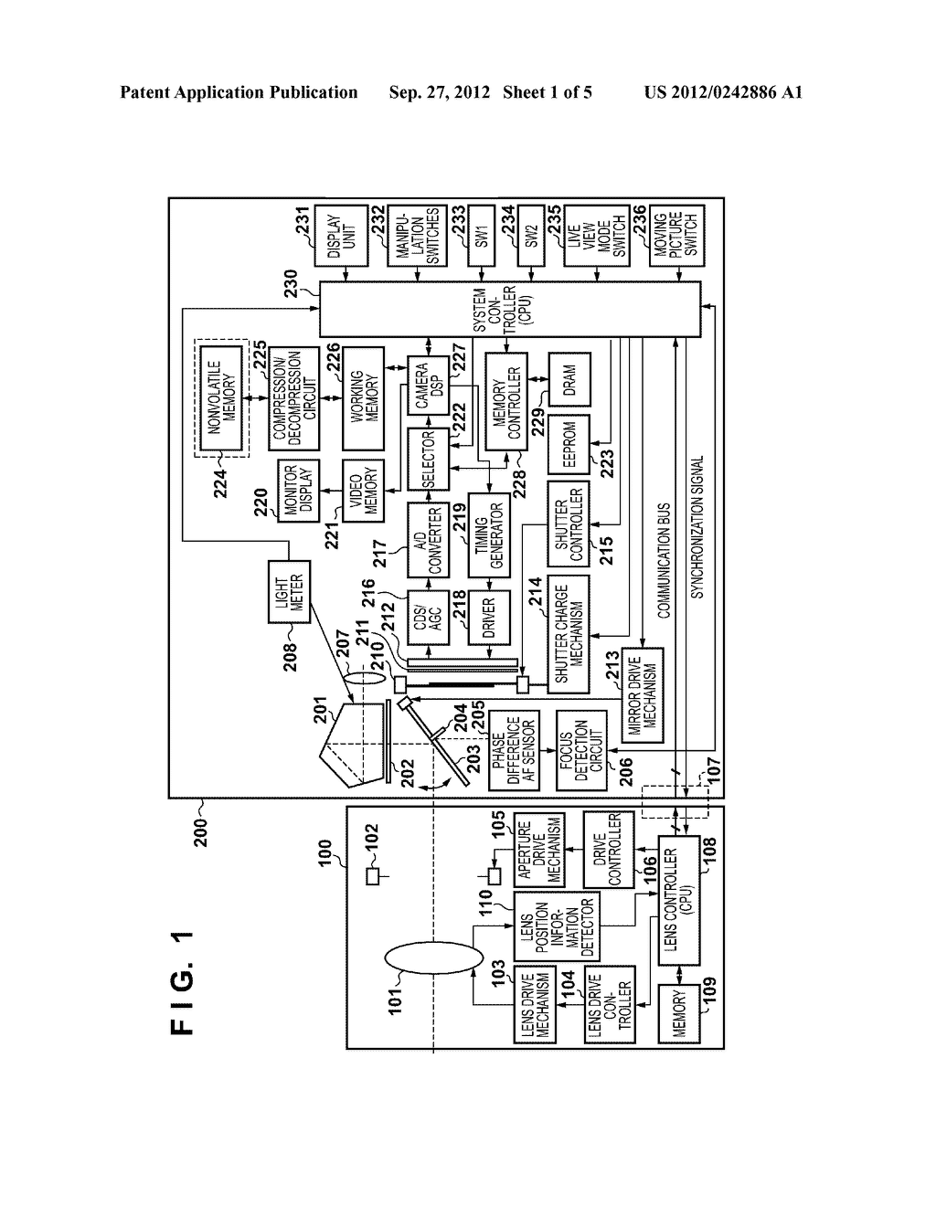 FOCUS DETECTION APPARATUS, METHOD FOR CONTROLLING THE SAME, AND IMAGE     CAPTURING APPARATUS HAVING A FOCUS DETECTION APPARATUS - diagram, schematic, and image 02