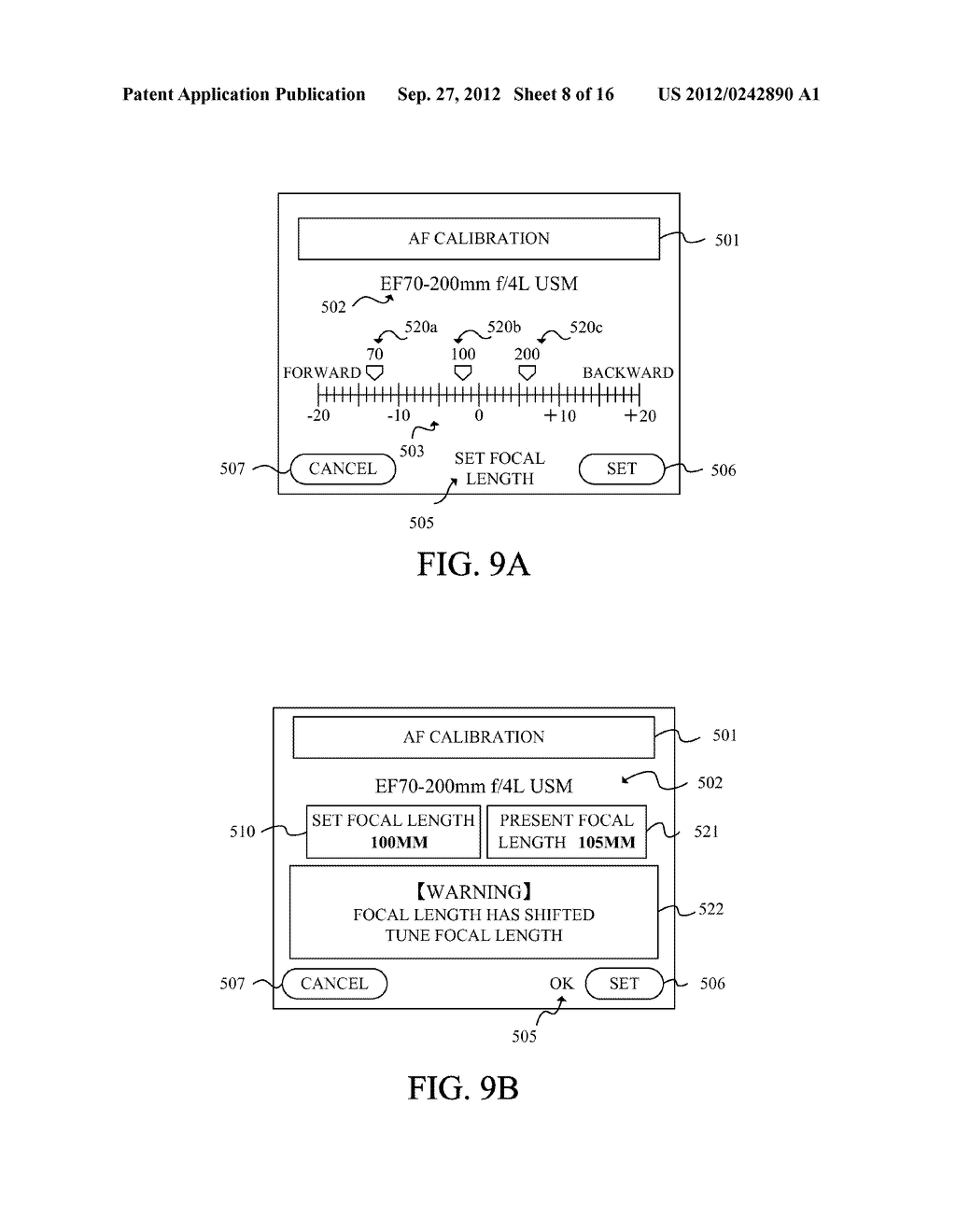 DISPLAY APPARATUS OF IMAGE PICKUP APPARATUS WITH FUNCTION TO CORRECT PHASE     DIFFERENCE AF - diagram, schematic, and image 09