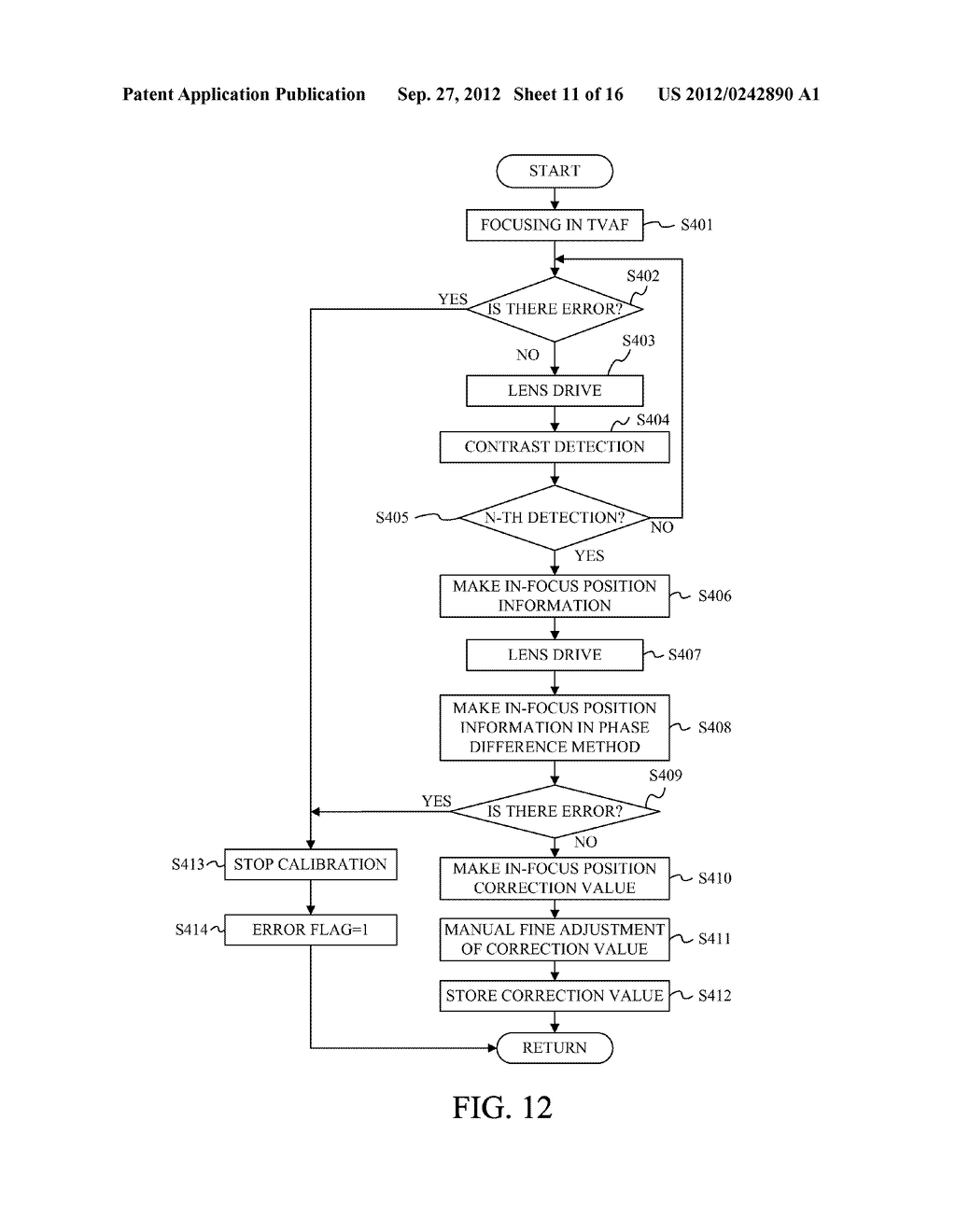 DISPLAY APPARATUS OF IMAGE PICKUP APPARATUS WITH FUNCTION TO CORRECT PHASE     DIFFERENCE AF - diagram, schematic, and image 12