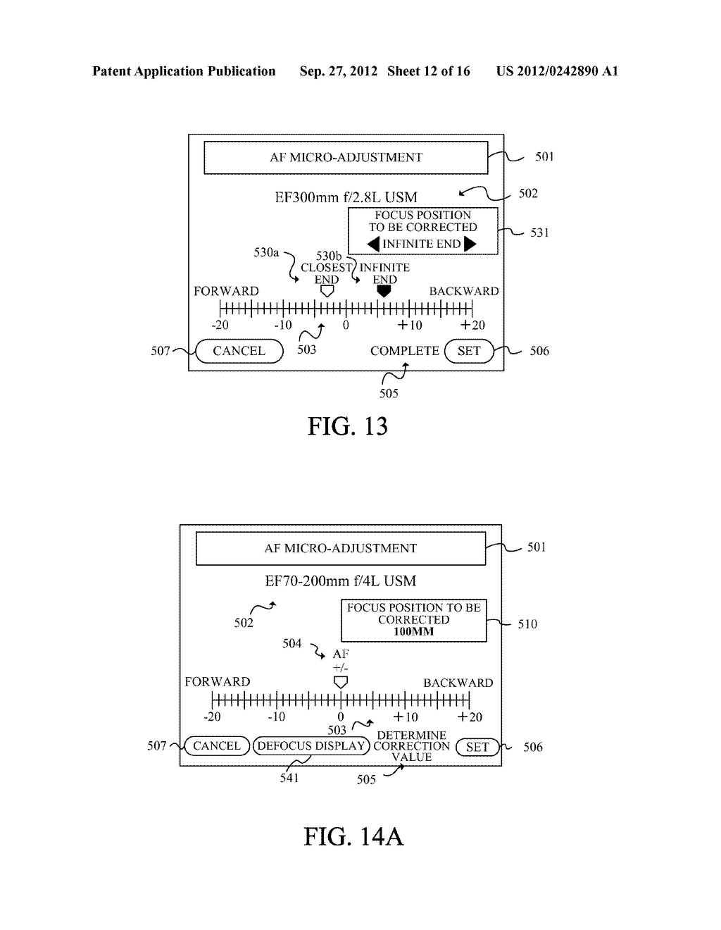 DISPLAY APPARATUS OF IMAGE PICKUP APPARATUS WITH FUNCTION TO CORRECT PHASE     DIFFERENCE AF - diagram, schematic, and image 13