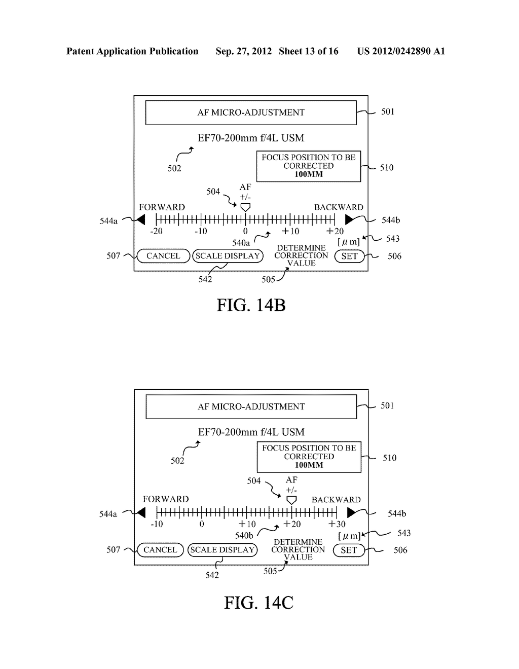 DISPLAY APPARATUS OF IMAGE PICKUP APPARATUS WITH FUNCTION TO CORRECT PHASE     DIFFERENCE AF - diagram, schematic, and image 14